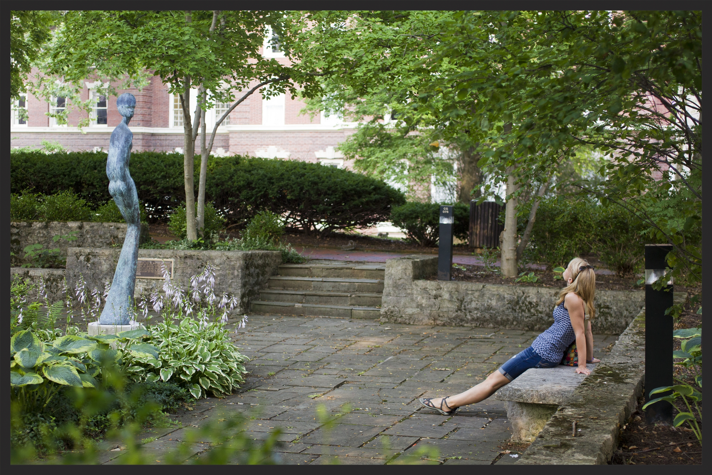 I took this photo of Suzanne during our visit to the Ohio University campus in June 2014, sixteen years after we graduated. She lives in Ohio with her husband Joe, and their three kids Maya, Alyssa, and Dylan.