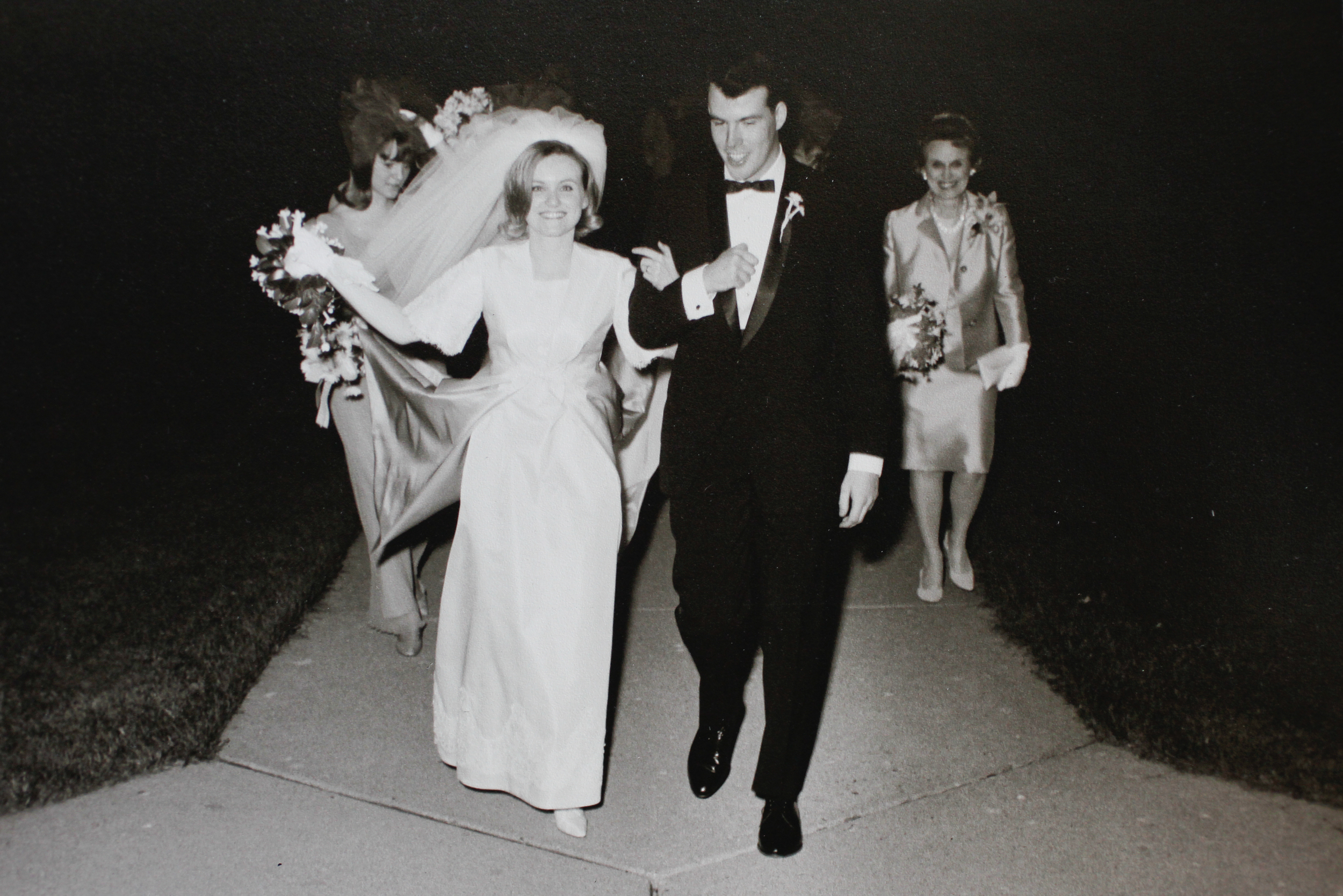 Mom and Dad reflect their wedding day, April 30, 1966 during a family trip to DC to celebrate their 50th anniversary.