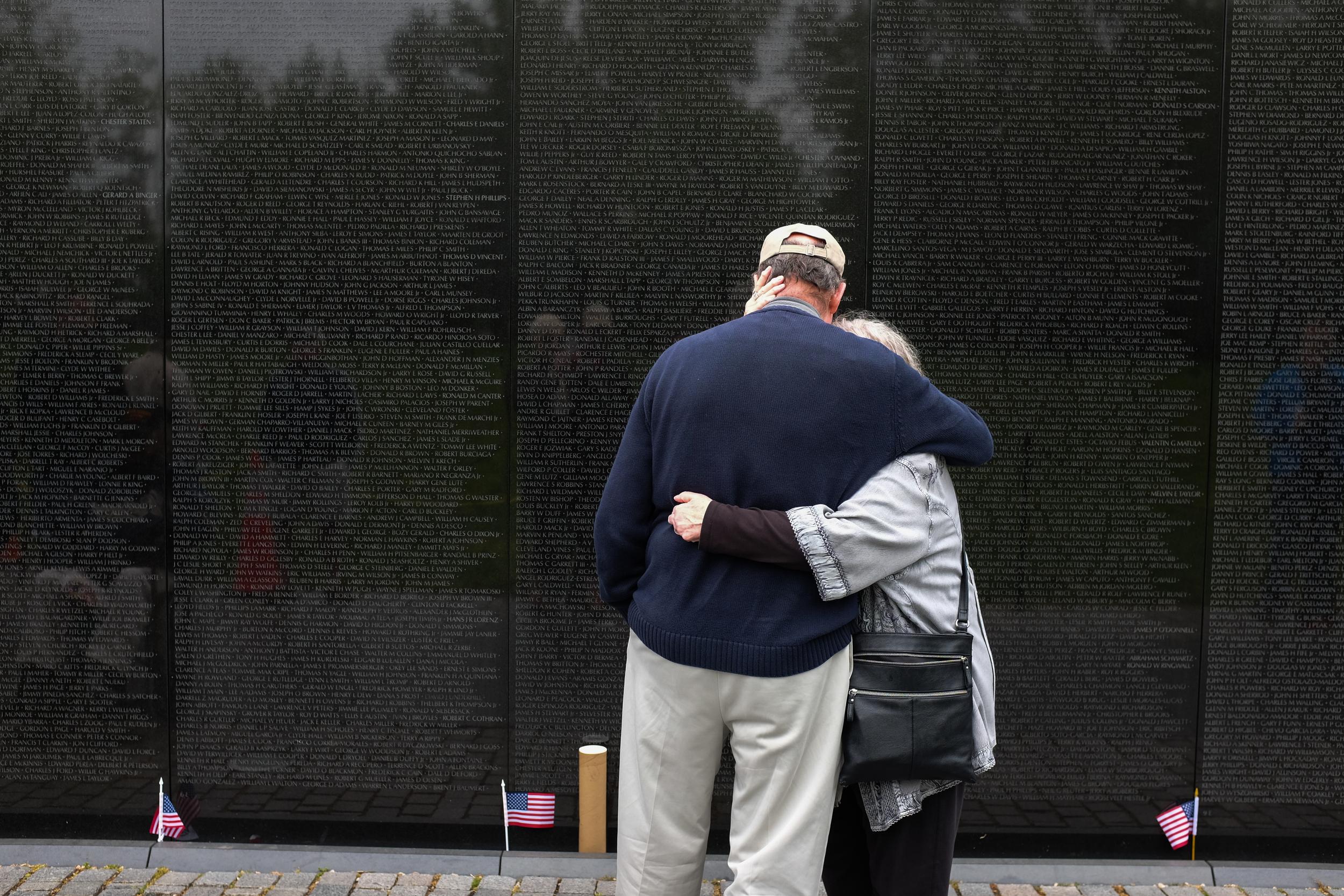 Mom and Dad at the Vietnam War Memorial Wall
