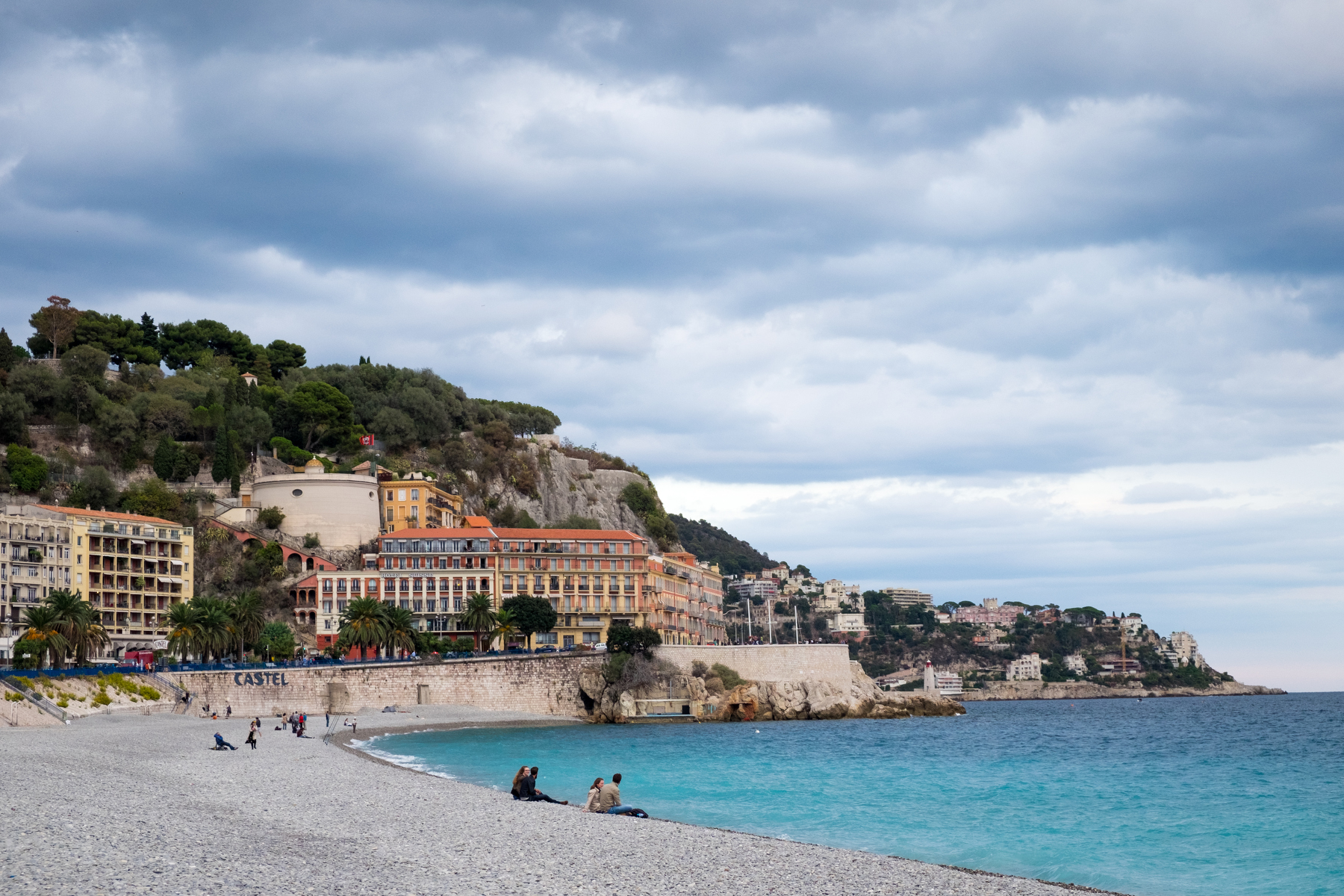 Along the Mediterranean in Nice, France.
