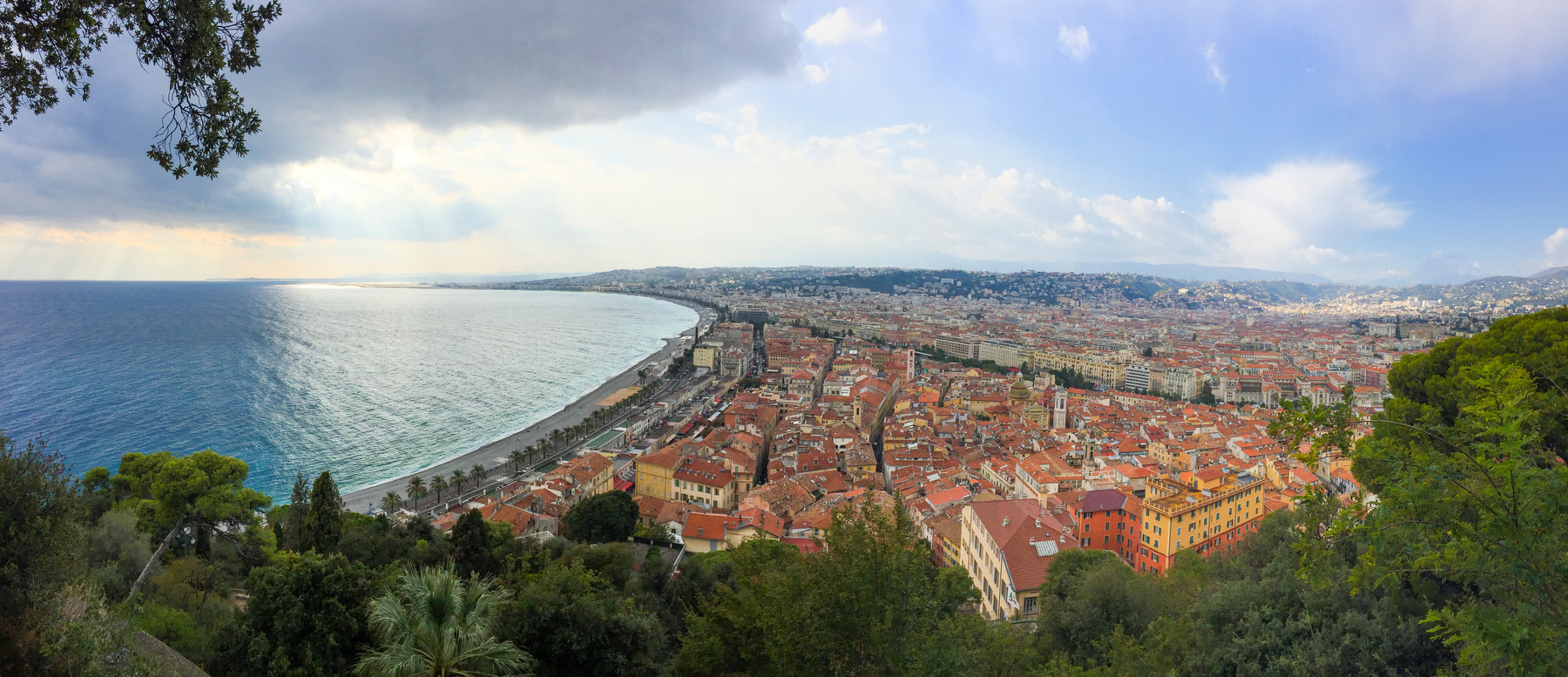 The view of Nice from it's highest peak.