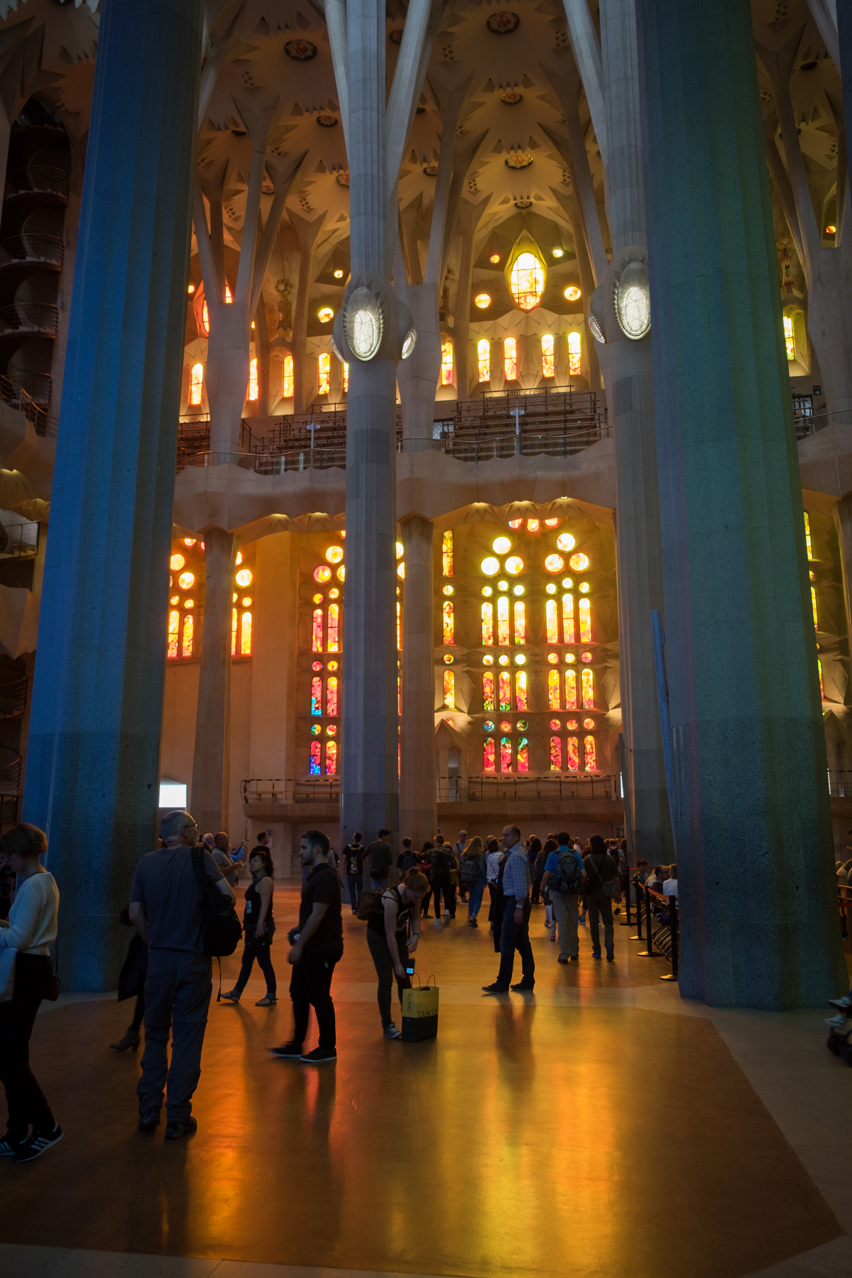 Back inside La Sagrada Familia