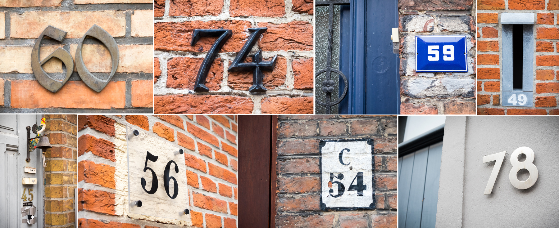 I loved the variety of style in the numbering on houses. Here's a collection in Bruges