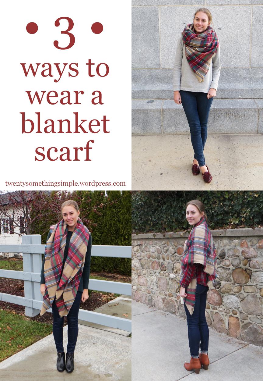 Three Ways To Wear A Blanket Scarf Cotton Cashmere Cat Hair