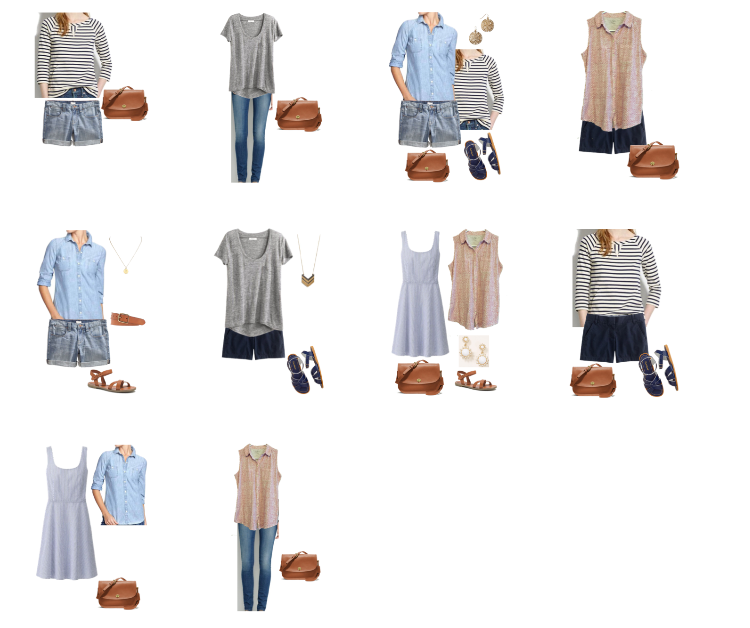 Packing for a long summer road trip: outfit ideas -- Cotton Cashmere Cat Hair