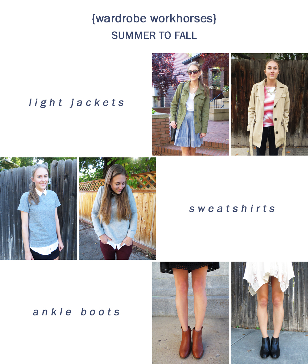 Wardrobe workhorses: light jackets, sweatshirts, and ankle boots -- Cotton Cashmere Cat Hair