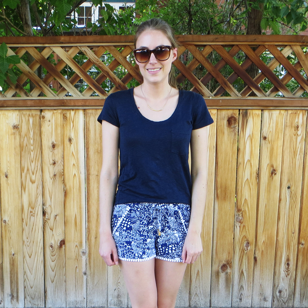 Worst purchase of 2015: Lilly Pulitzer for Target pompom shorts — Cotton Cashmere Cat Hair