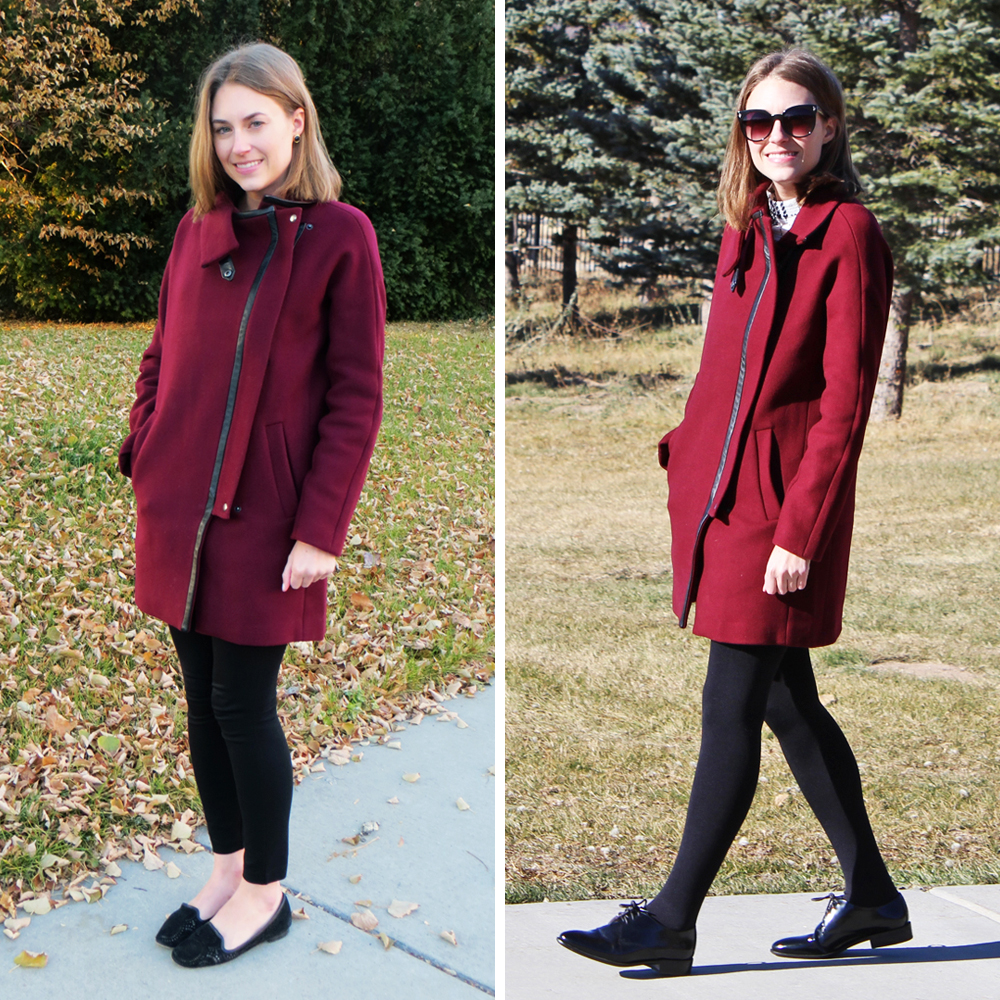 Best purchase of 2015: Madewell 'City Grid' coat — Cotton Cashmere Cat Hair