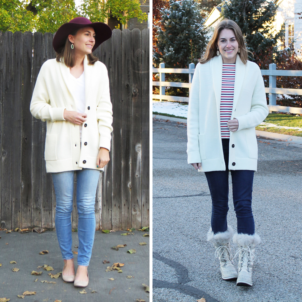 Best purchase of 2015: Everlane chunky knit cardigan — Cotton Cashmere Cat Hair
