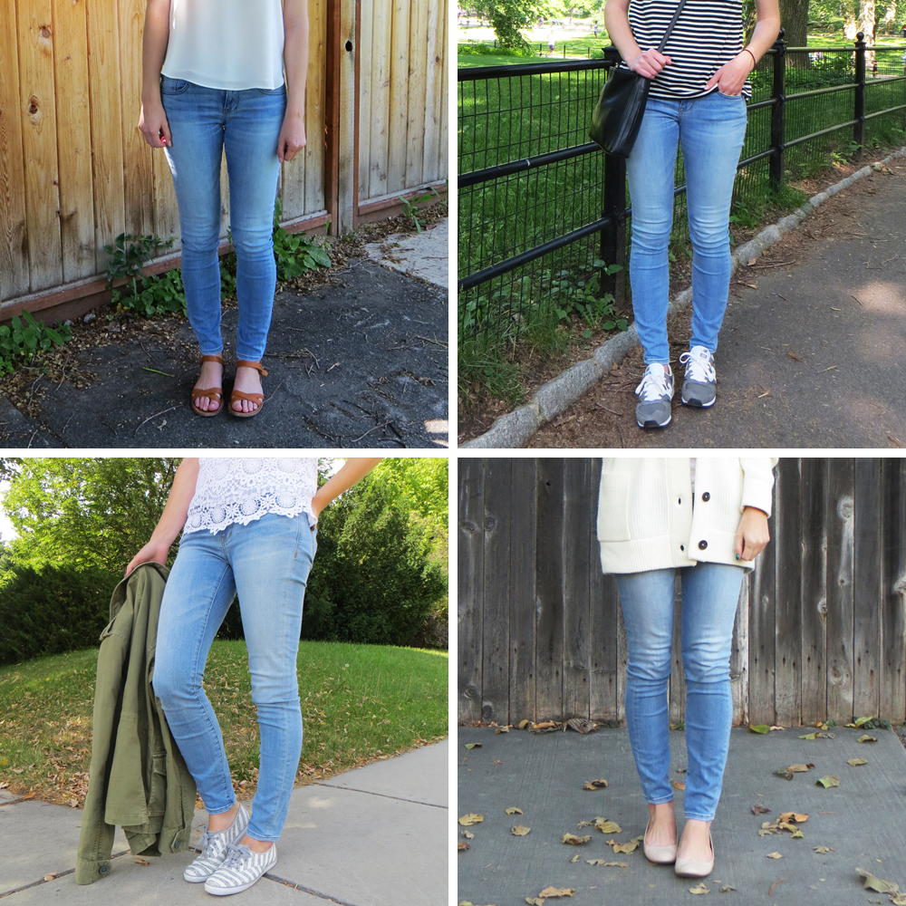 Best purchase of 2015: Madewell Skinny Skinny Jeans in Lydon Wash — Cotton Cashmere Cat Hair