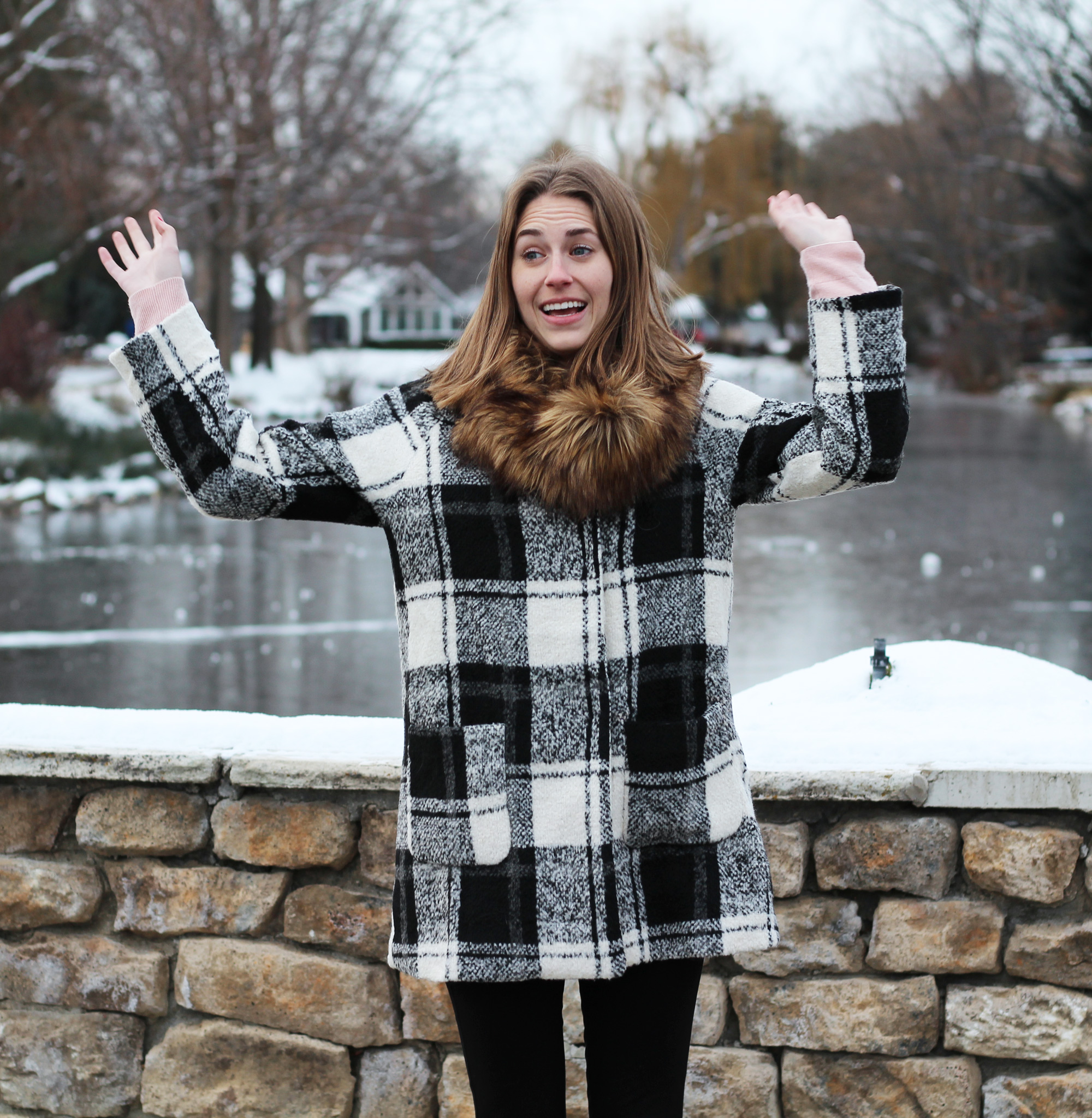 It's friggin' cold! (outfit outtake #3) -- Cotton Cashmere Cat Hair