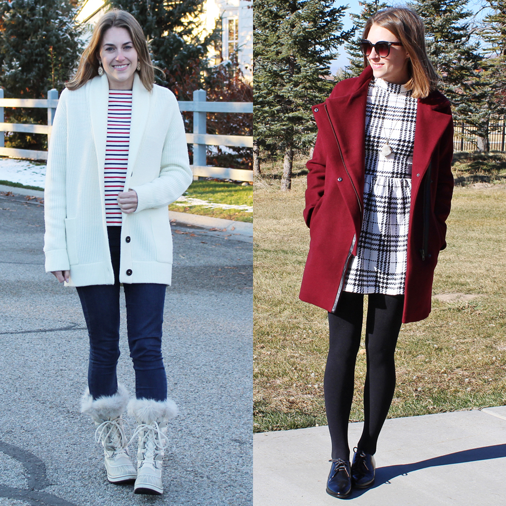 Favorite fall/winter outfits -- Cotton Cashmere Cat Hair