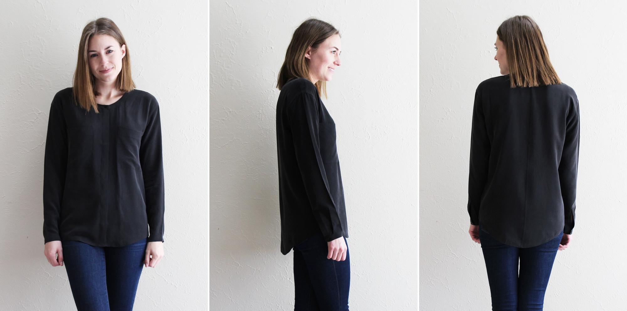 Everlane 'The Silk Pocket' in black — Cotton Cashmere Cat Hair