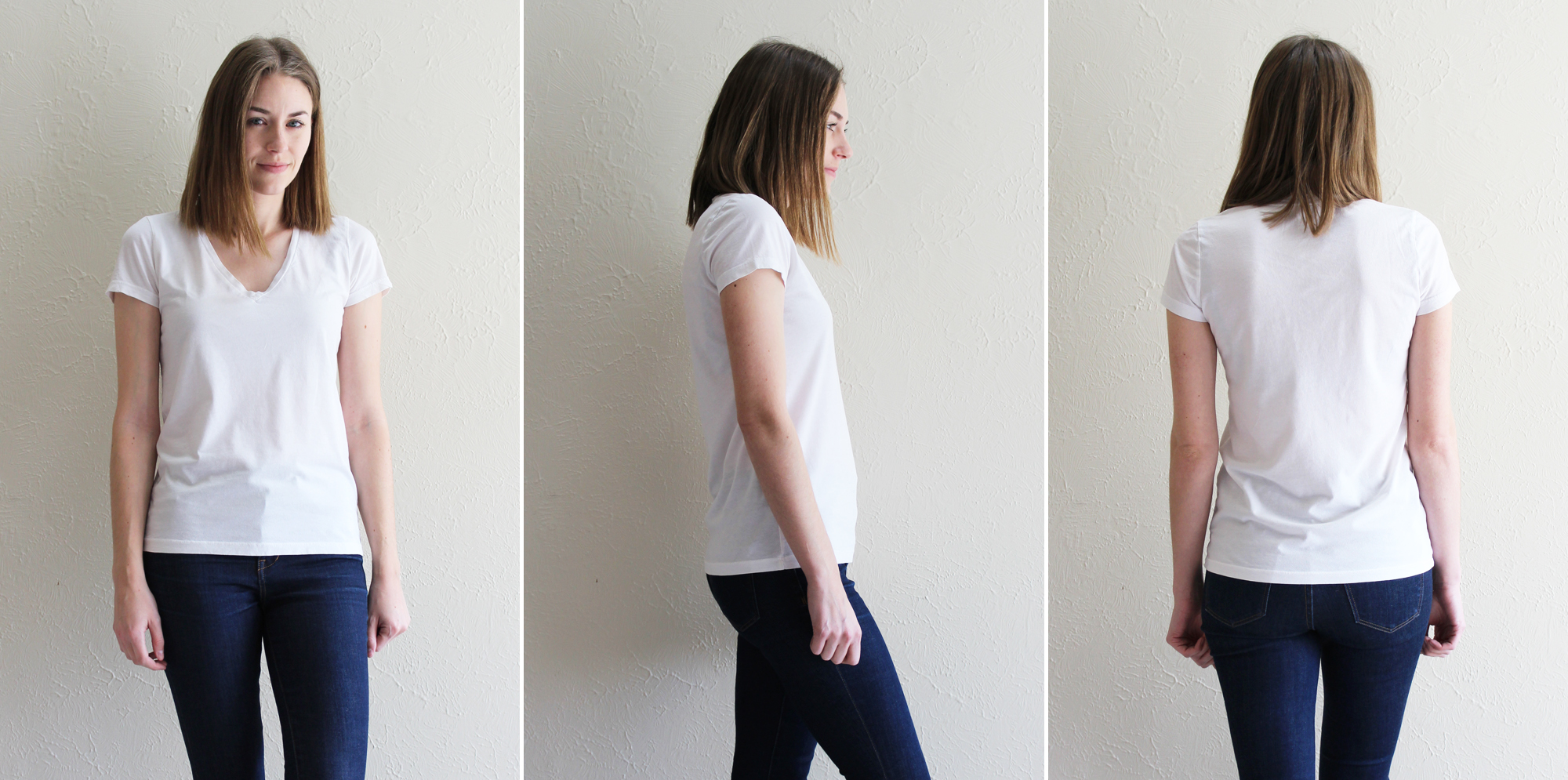 Everlane 'The Cotton V' in white — Cotton Cashmere Cat Hair