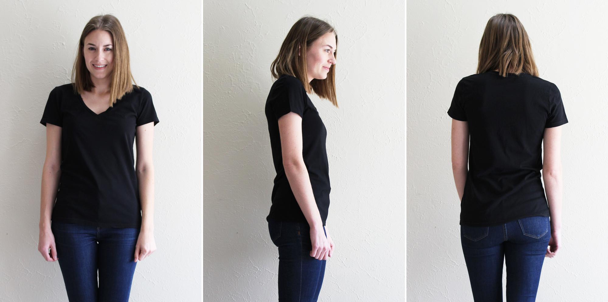 Everlane 'The Cotton V' in true black — Cotton Cashmere Cat Hair