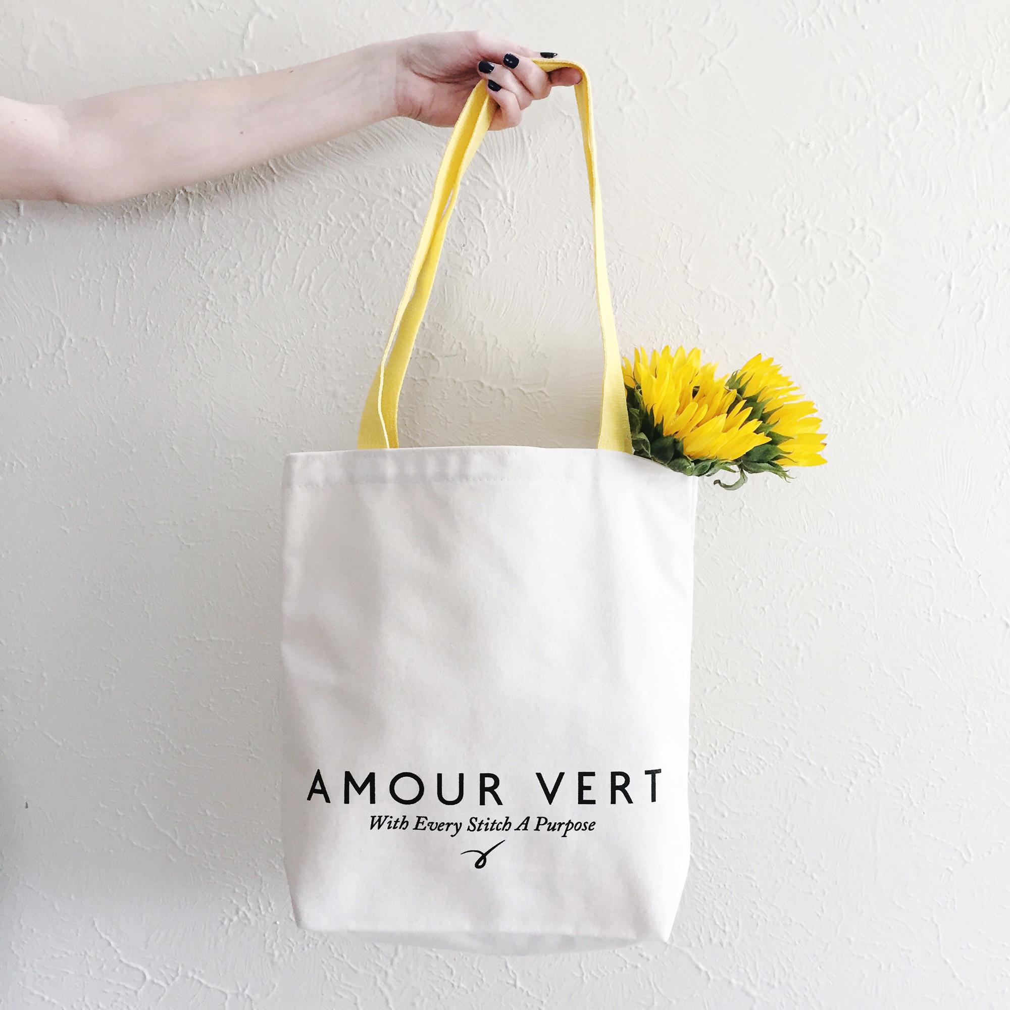 Amour Vert tote bag — via Cotton Cashmere Cat Hair