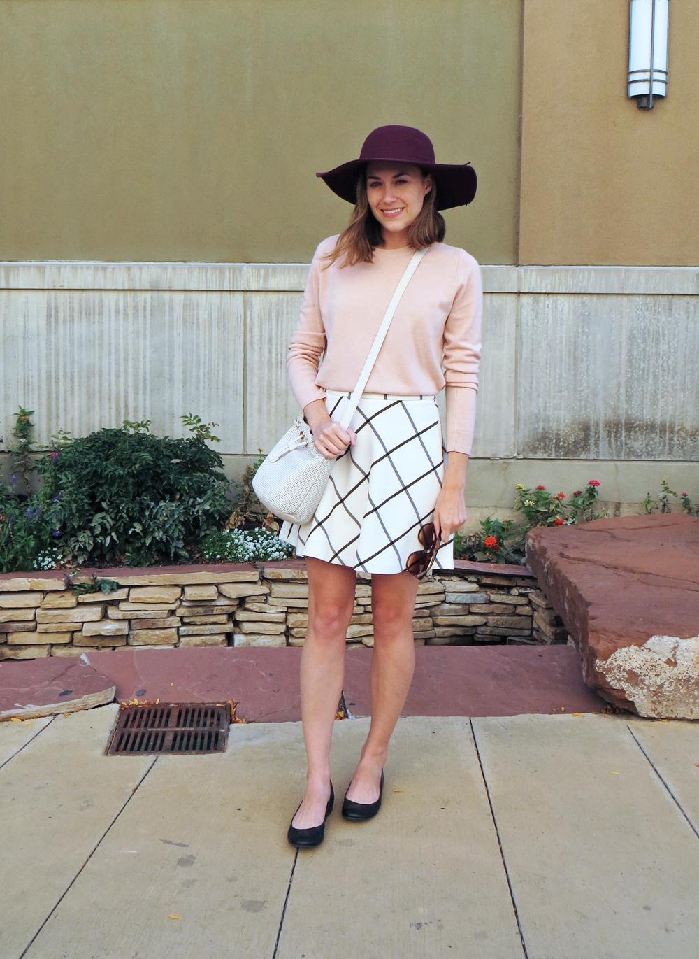 Two bloggers, one garment: Windowpane skirt