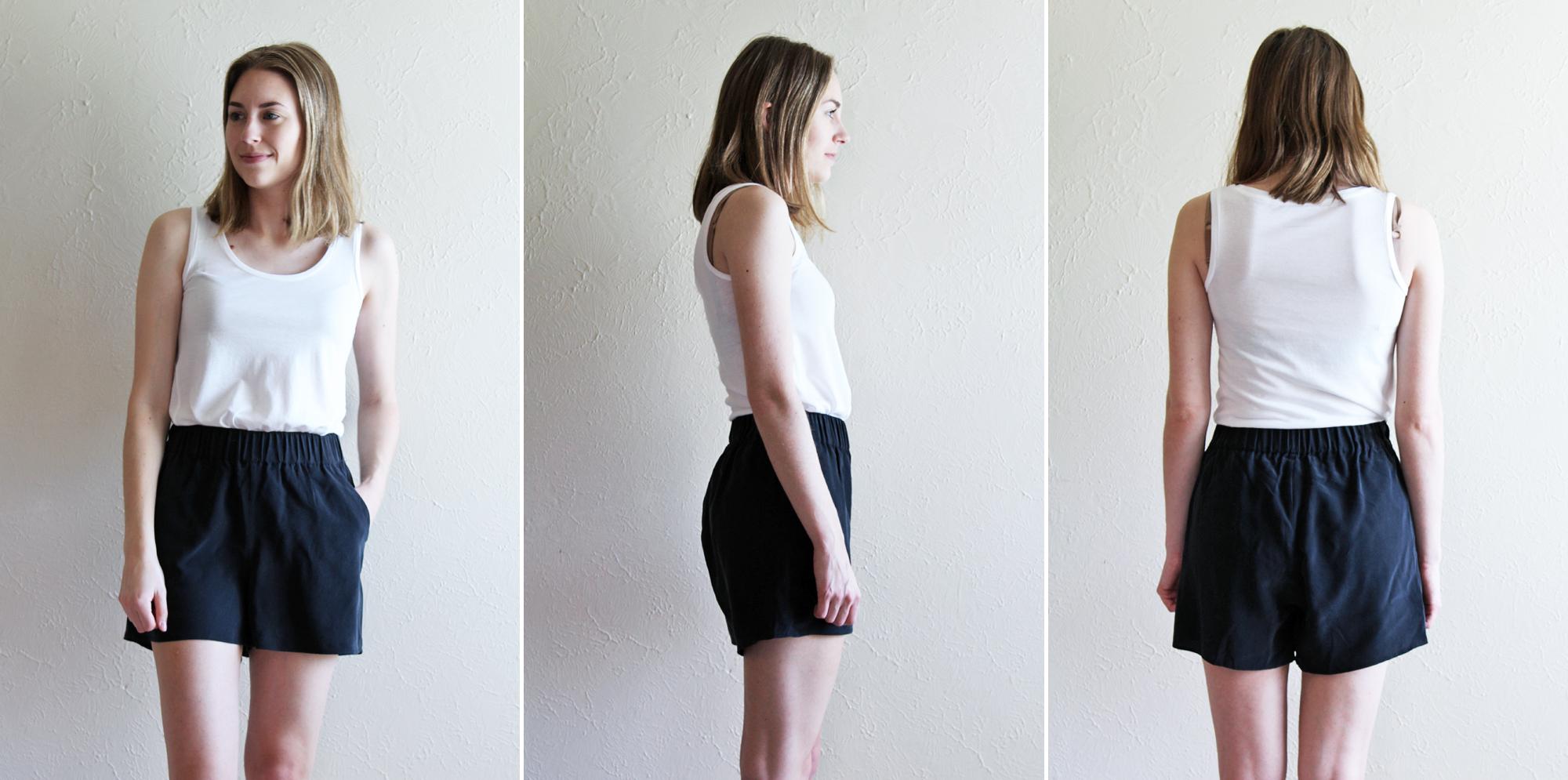 Grana 'Silk Shorts' in black — via Cotton Cashmere Cat Hair