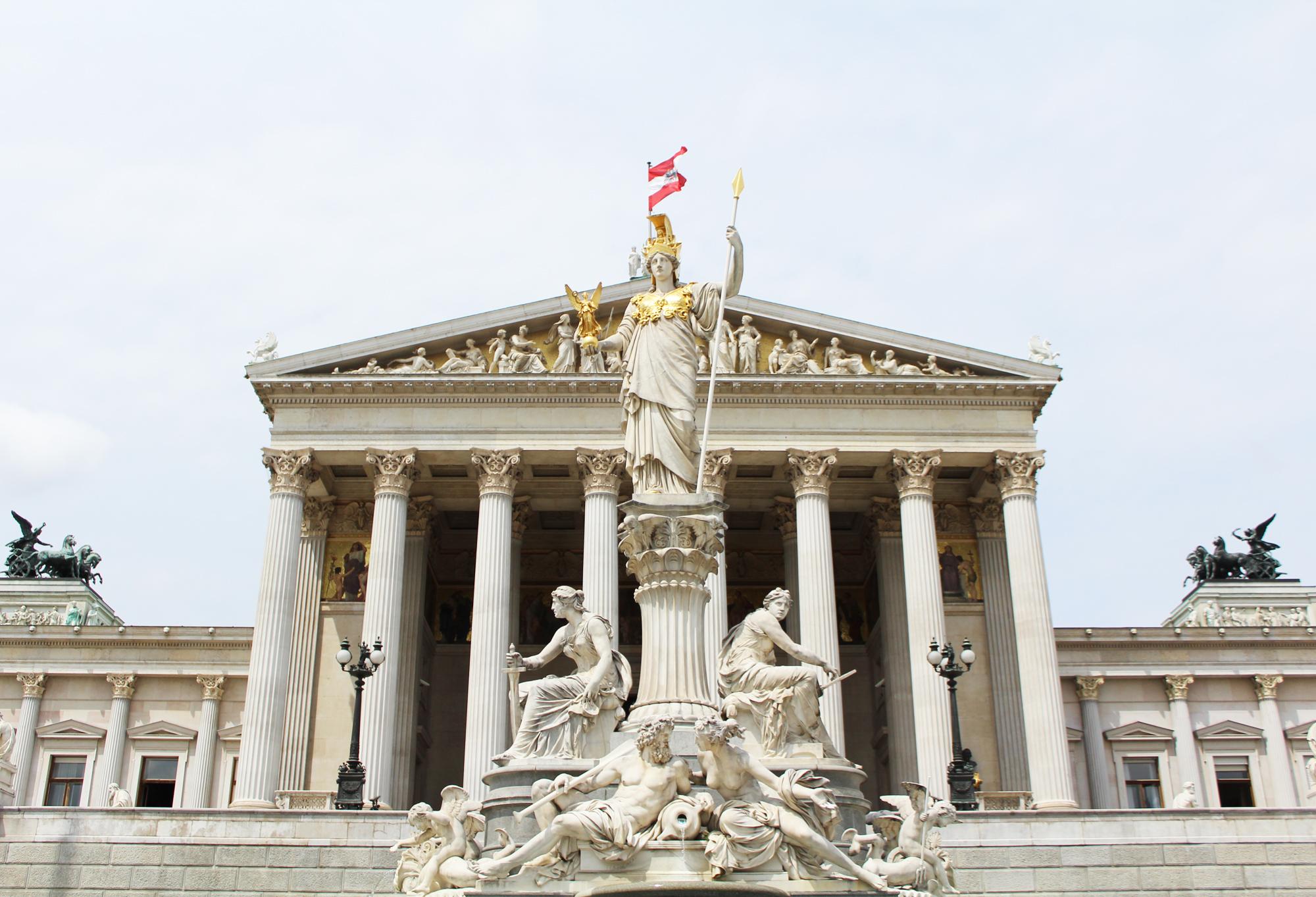 Parliament building, Vienna, Austria — via Cotton Cashmere Cat Hair
