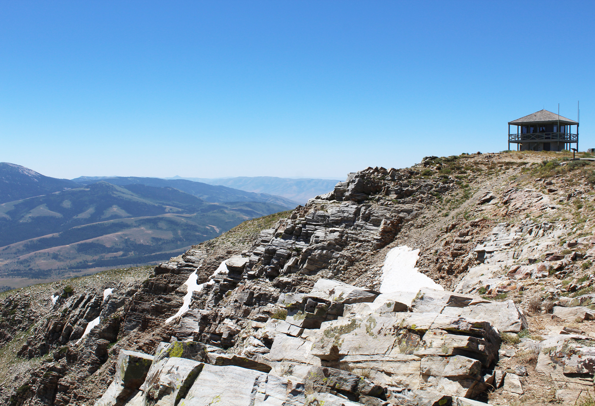 Lookout on the peak of Mt. Harrison, Idaho — via Cotton Cashmere Cat Hair