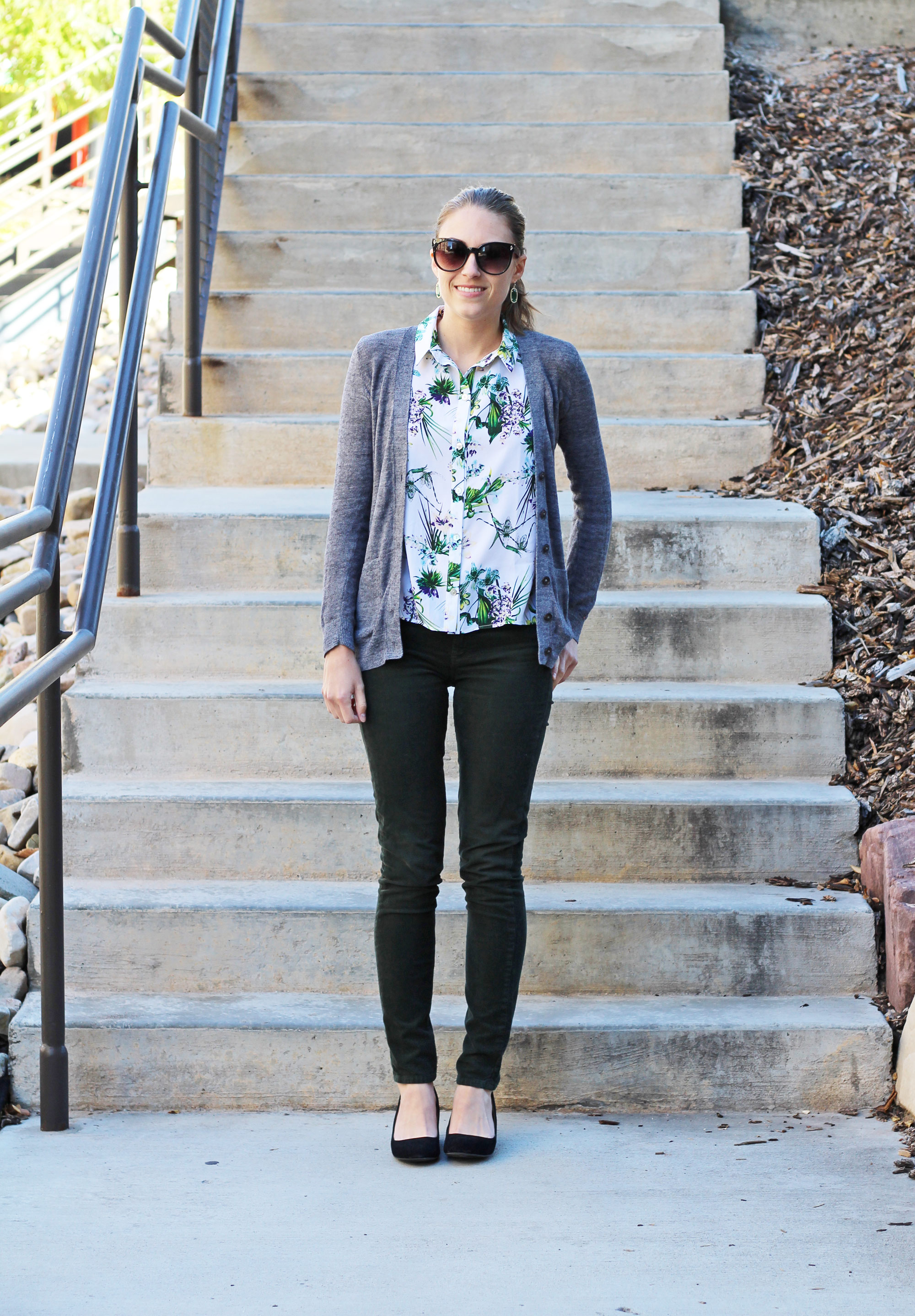 How to wear a summery print in the fall — Cotton Cashmere Cat Hair