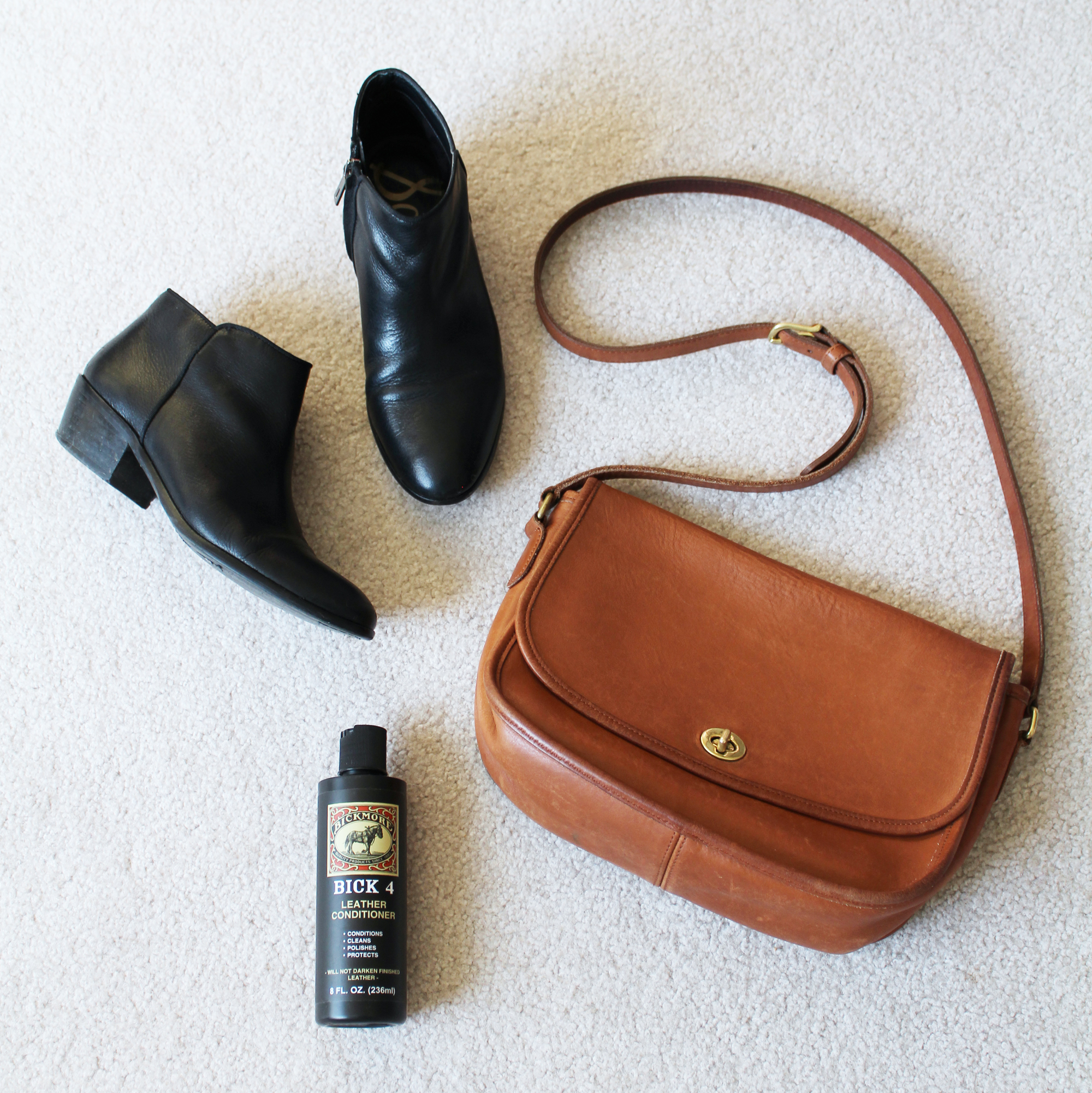 How to care for leather shoes and bags — via Cotton Cashmere Cat Hair