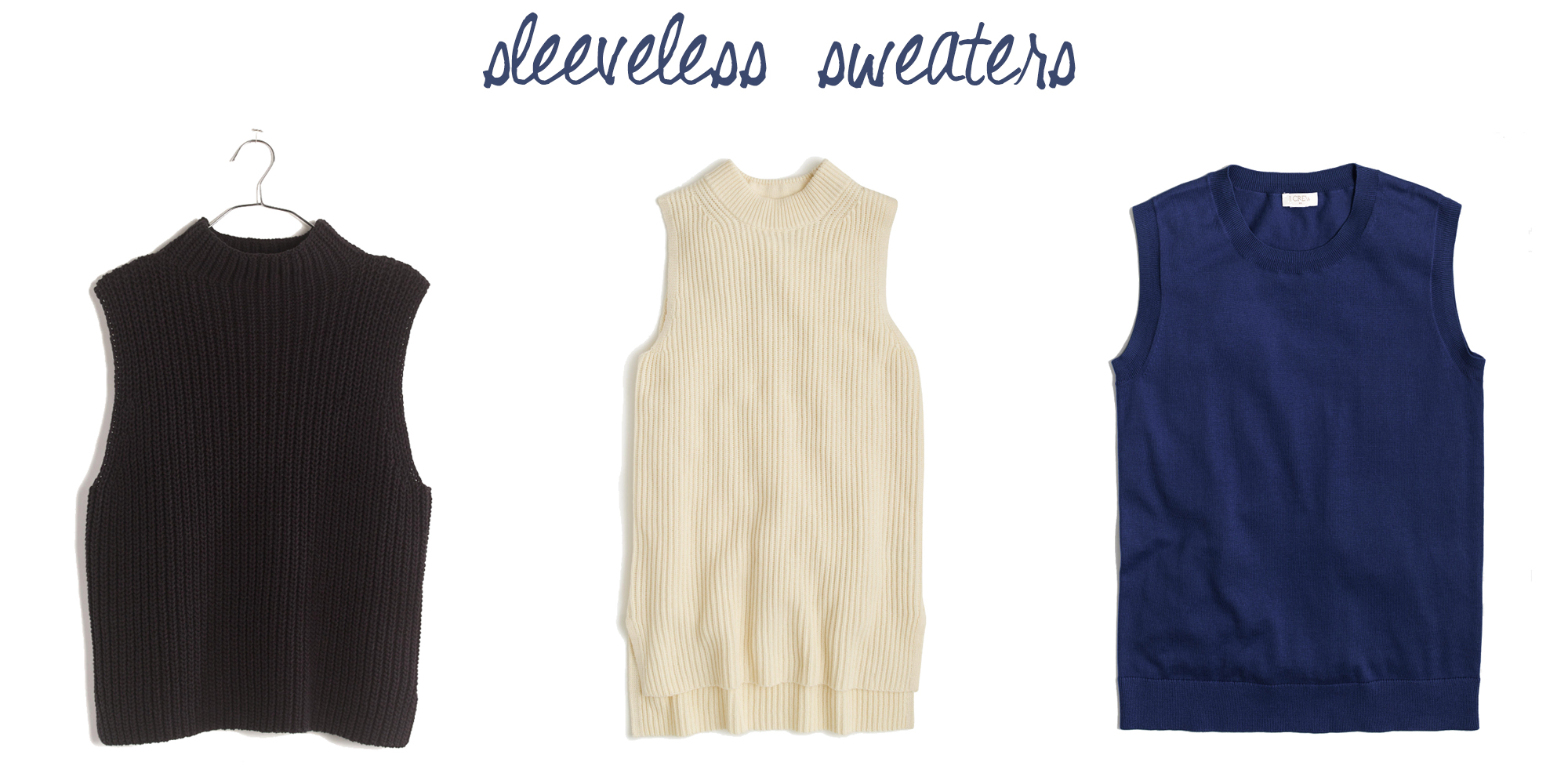 Trend to try: Sleeveless sweaters — via Cotton Cashmere Cat Hair