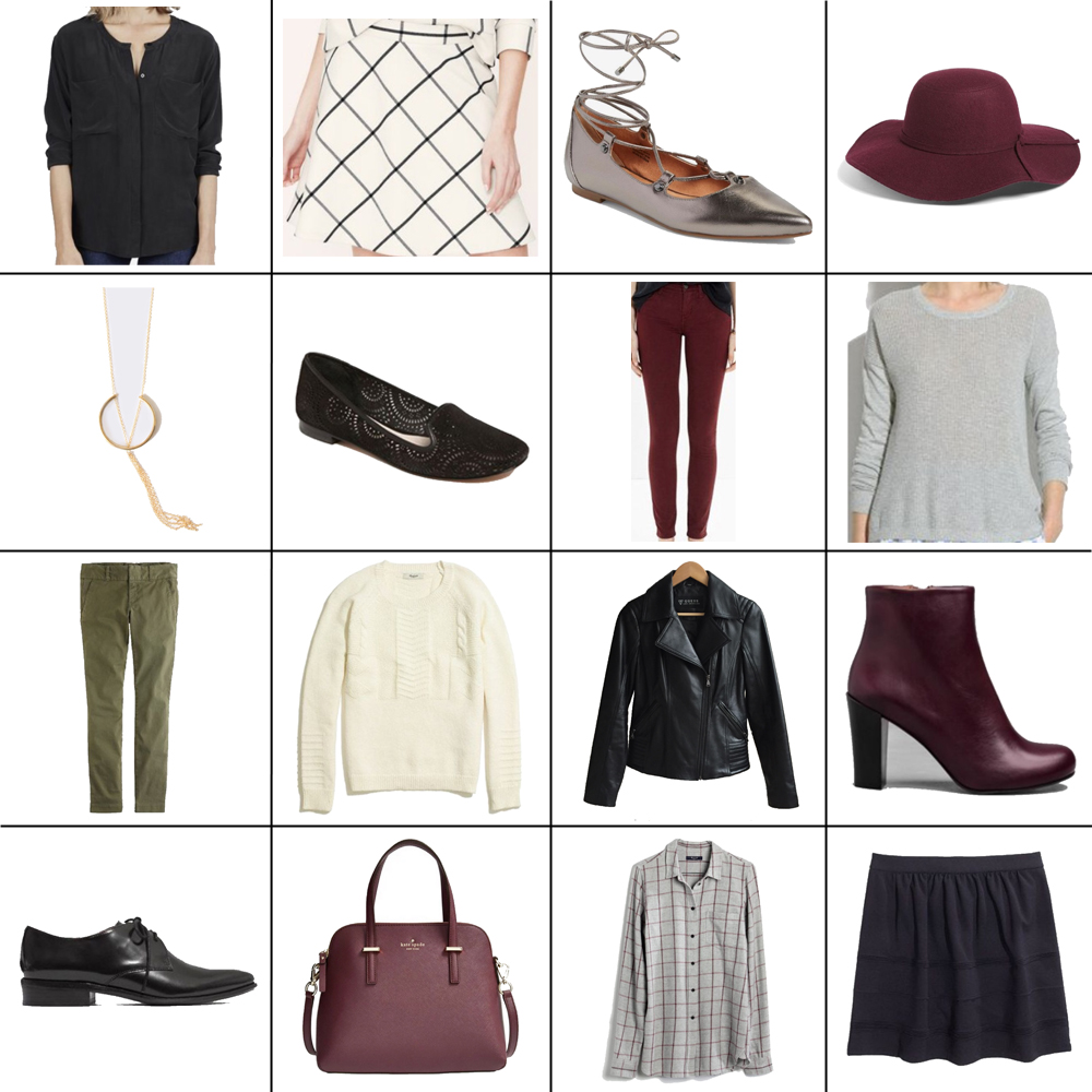 Fall style sudoku: 16 pieces, 14 outfits — Cotton Cashmere Cat Hair