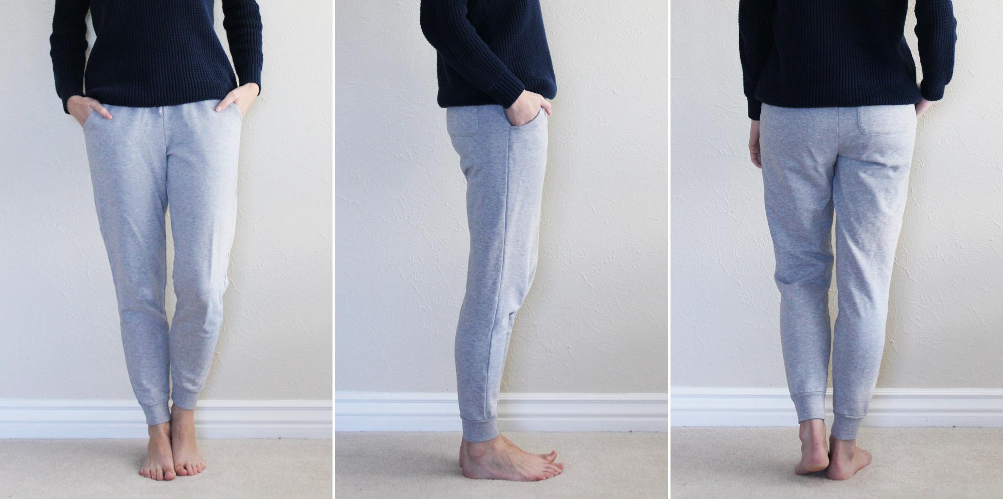 Grana 'Pima Joggers' in heather grey — via Cotton Cashmere Cat Hair