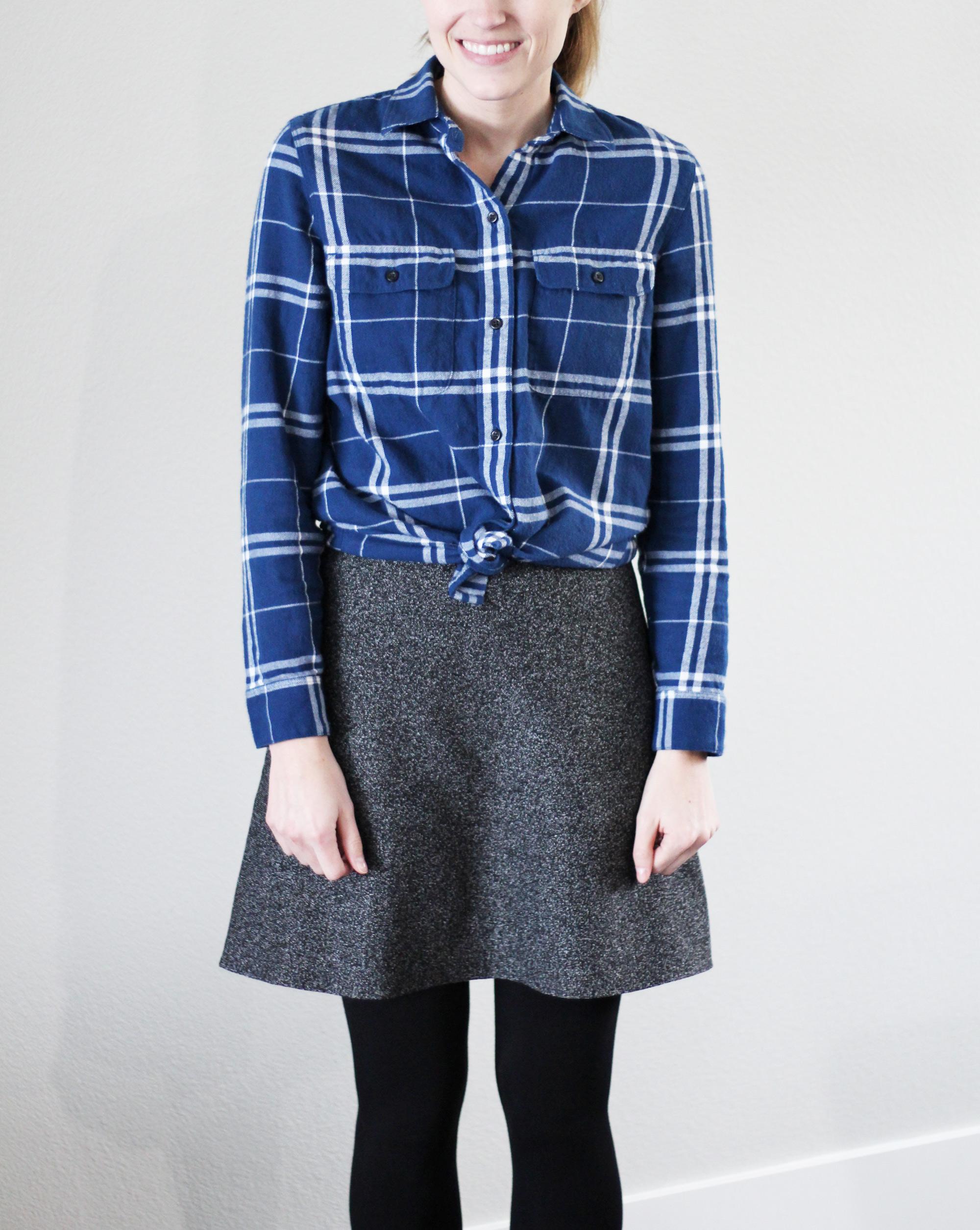 Madewell flannel ex-boyfriend shirt in Aurora plaid — Cotton Cashmere Cat Hair