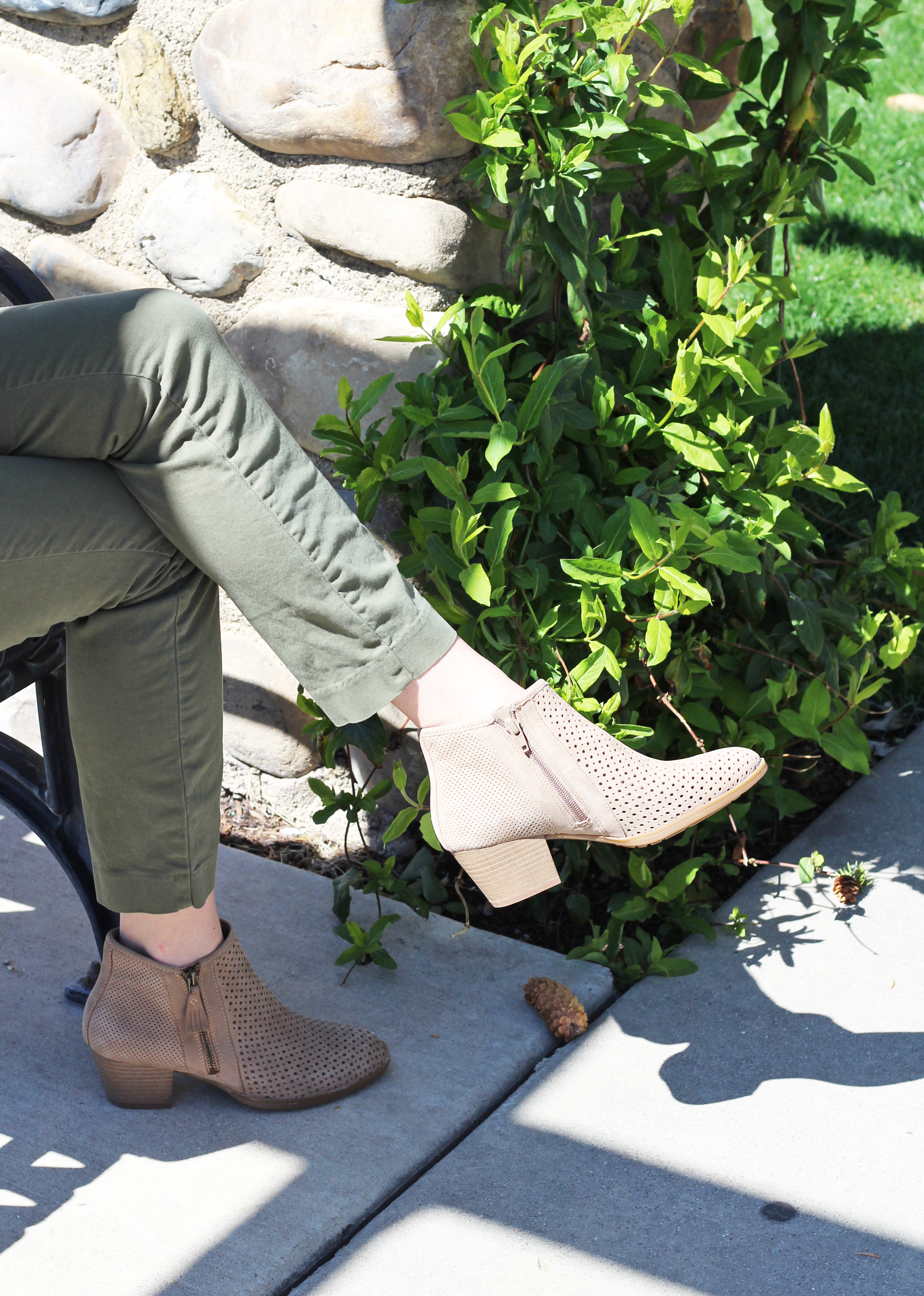 Earth 'Pineberry' ankle boots in taupe — Cotton Cashmere Cat Hair