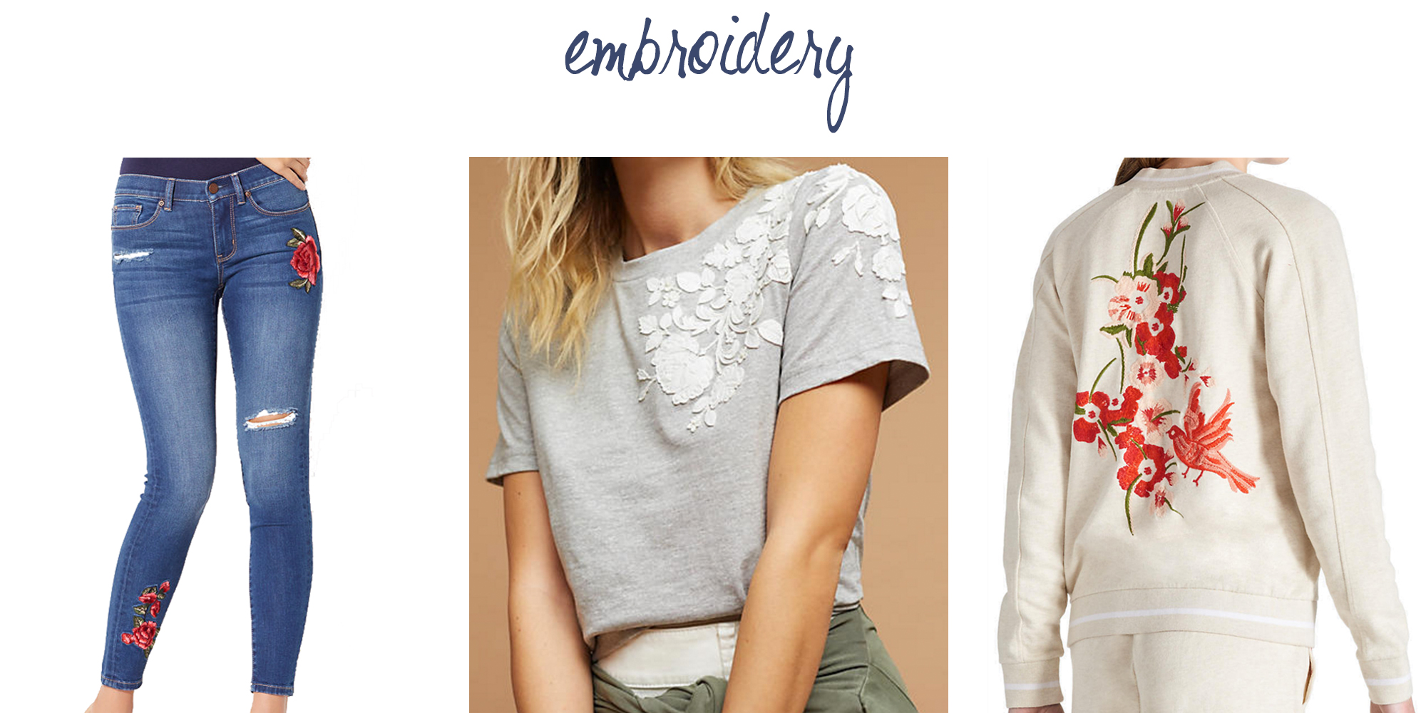 Trend to try: Embroidery — via Cotton Cashmere Cat Hair
