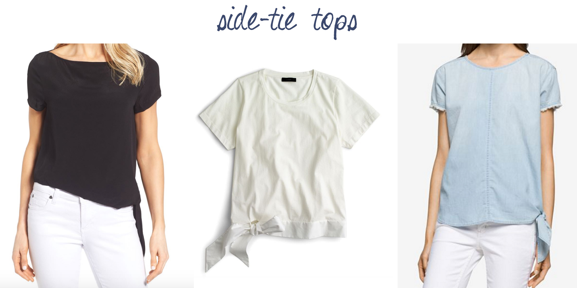 Trend to try: Side-tie tops — via Cotton Cashmere Cat Hair