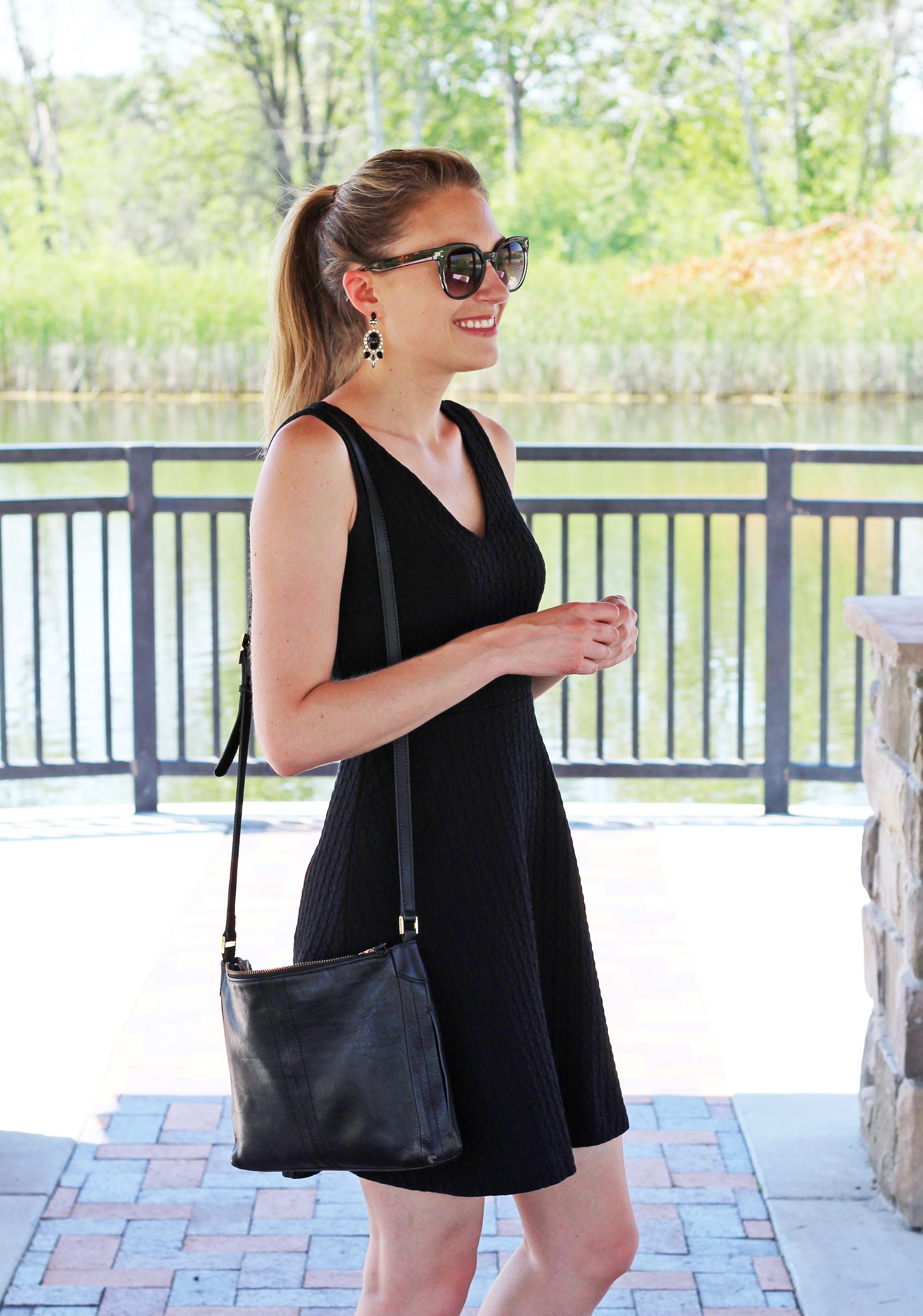 Little black dress for a bachelorette party — Cotton Cashmere Cat Hair