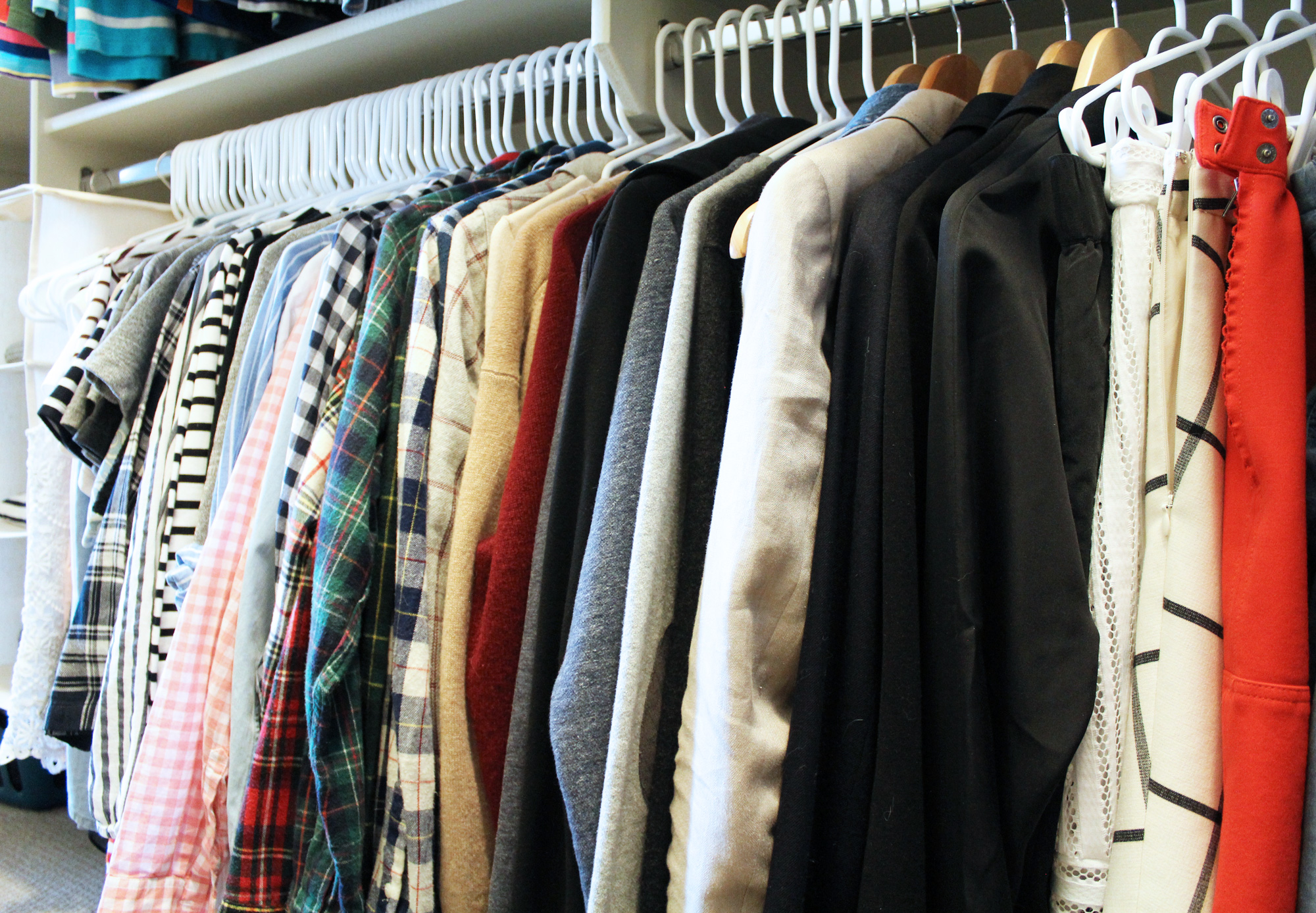 How to organize your closet — Cotton Cashmere Cat Hair