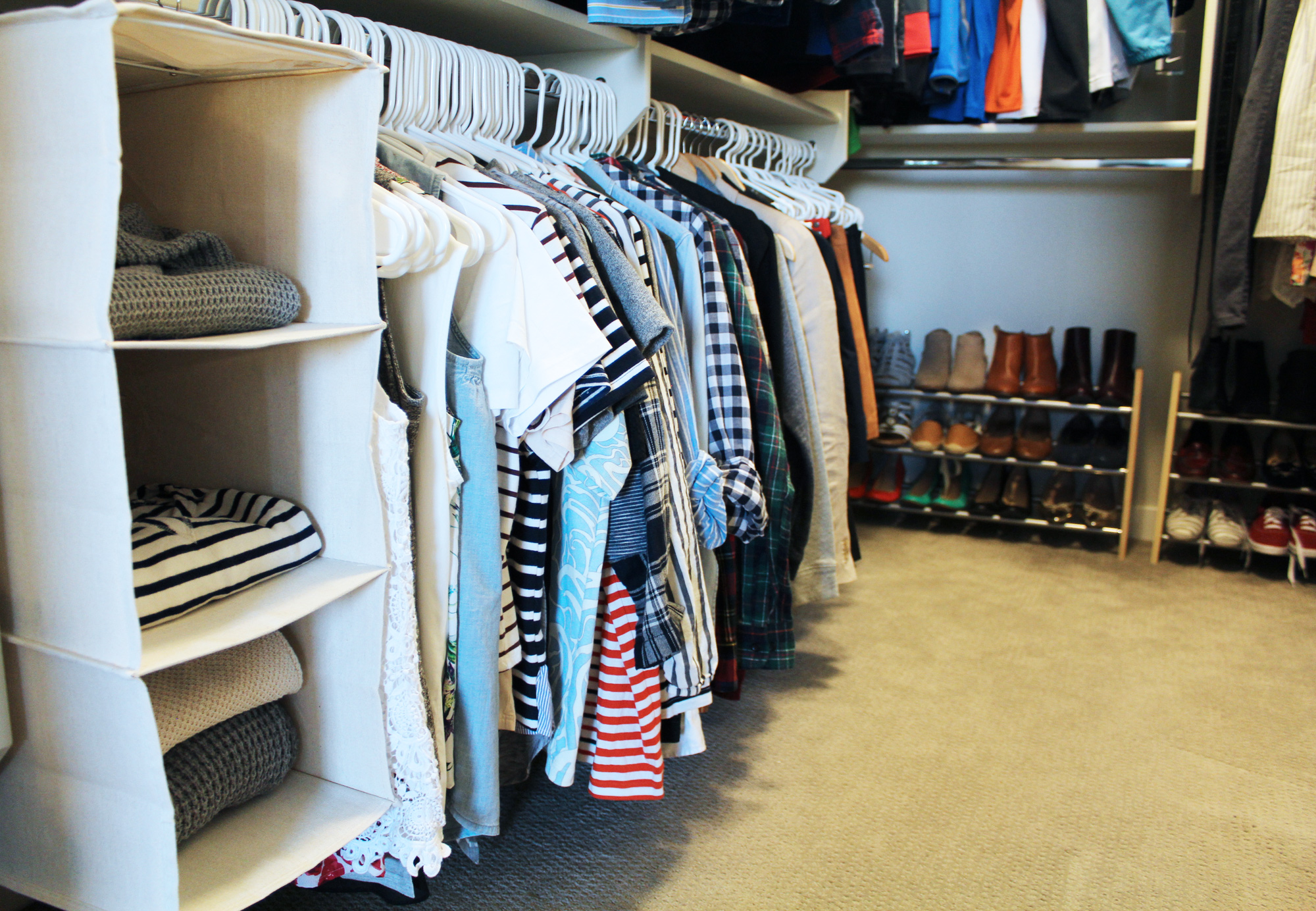 How to organize a walk-in closet — Cotton Cashmere Cat Hair