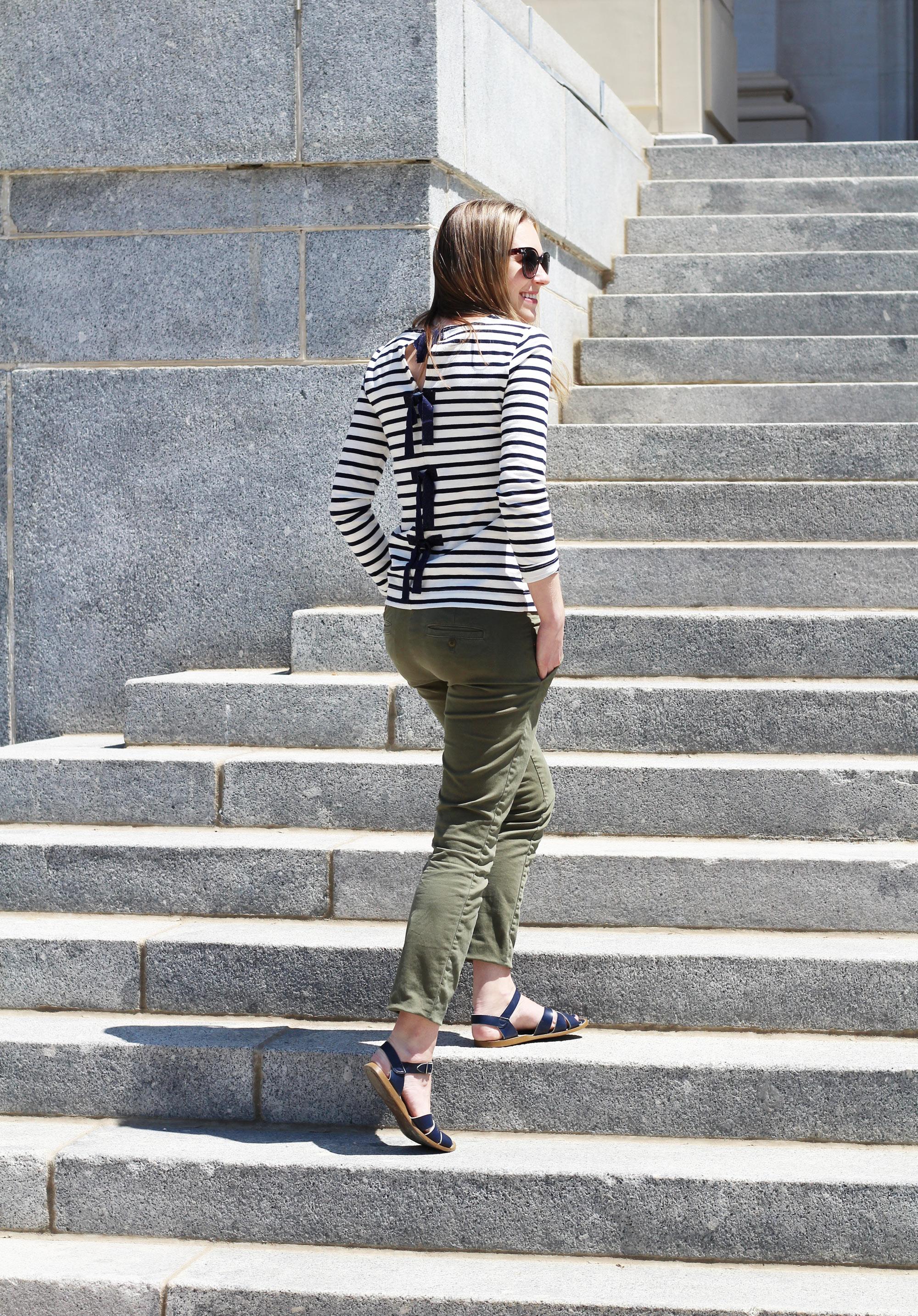 Stripes on steps