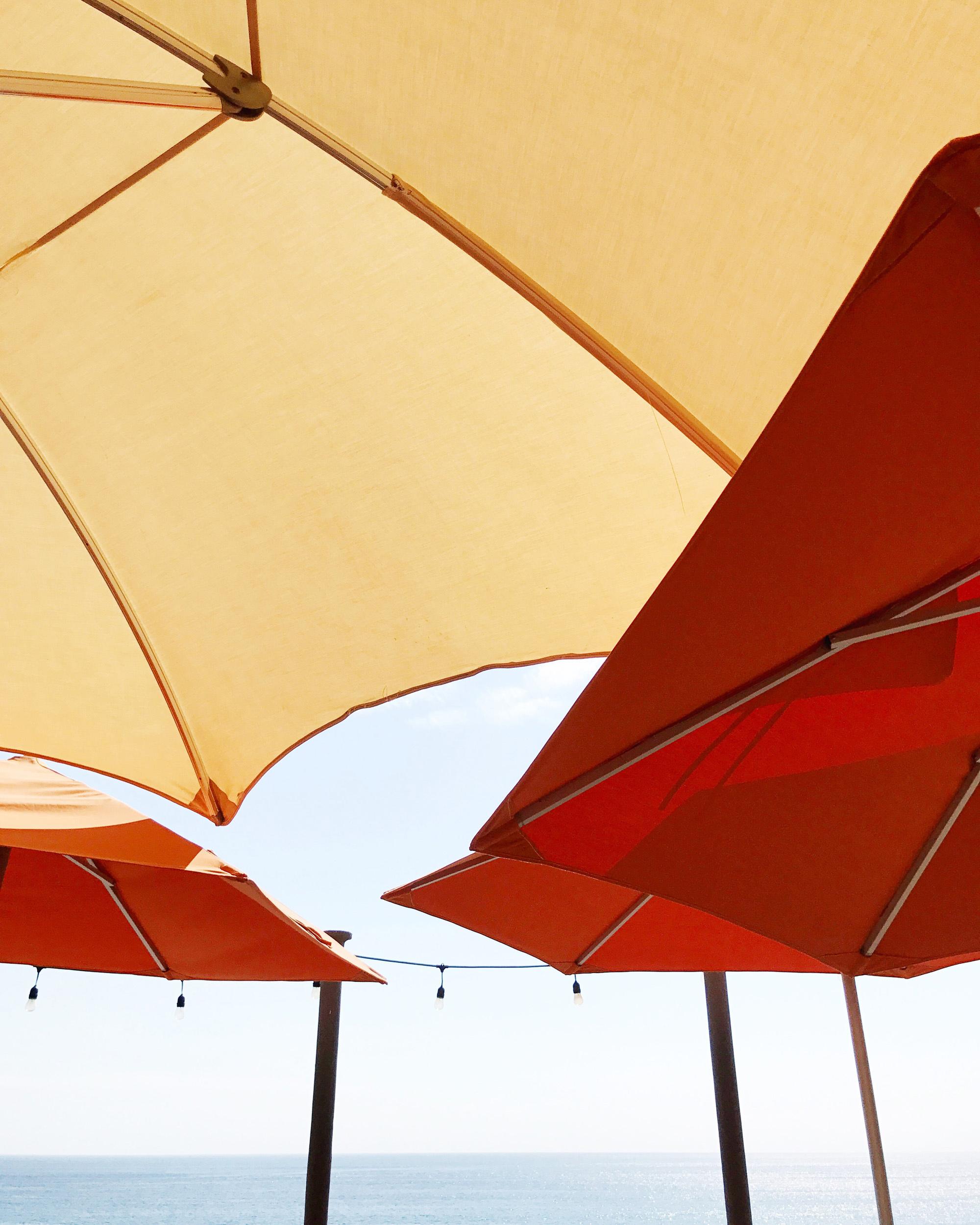 Umbrellas at Pueblo Bonito Sunset Beach, Mexico — Cotton Cashmere Cat Hair