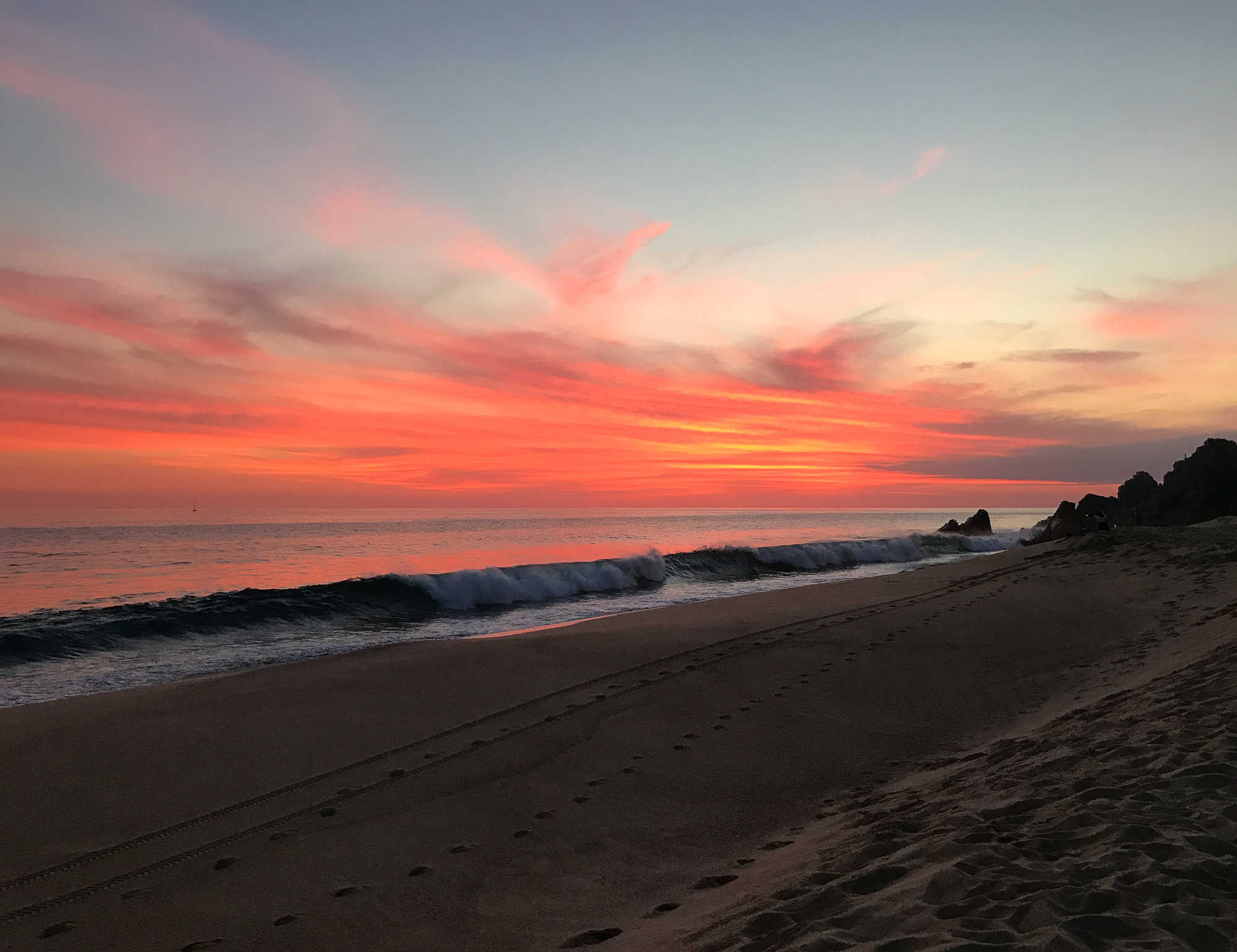 Sunset at Pueblo Bonito Sunset Beach, Cabo, Mexico — Cotton Cashmere Cat Hair