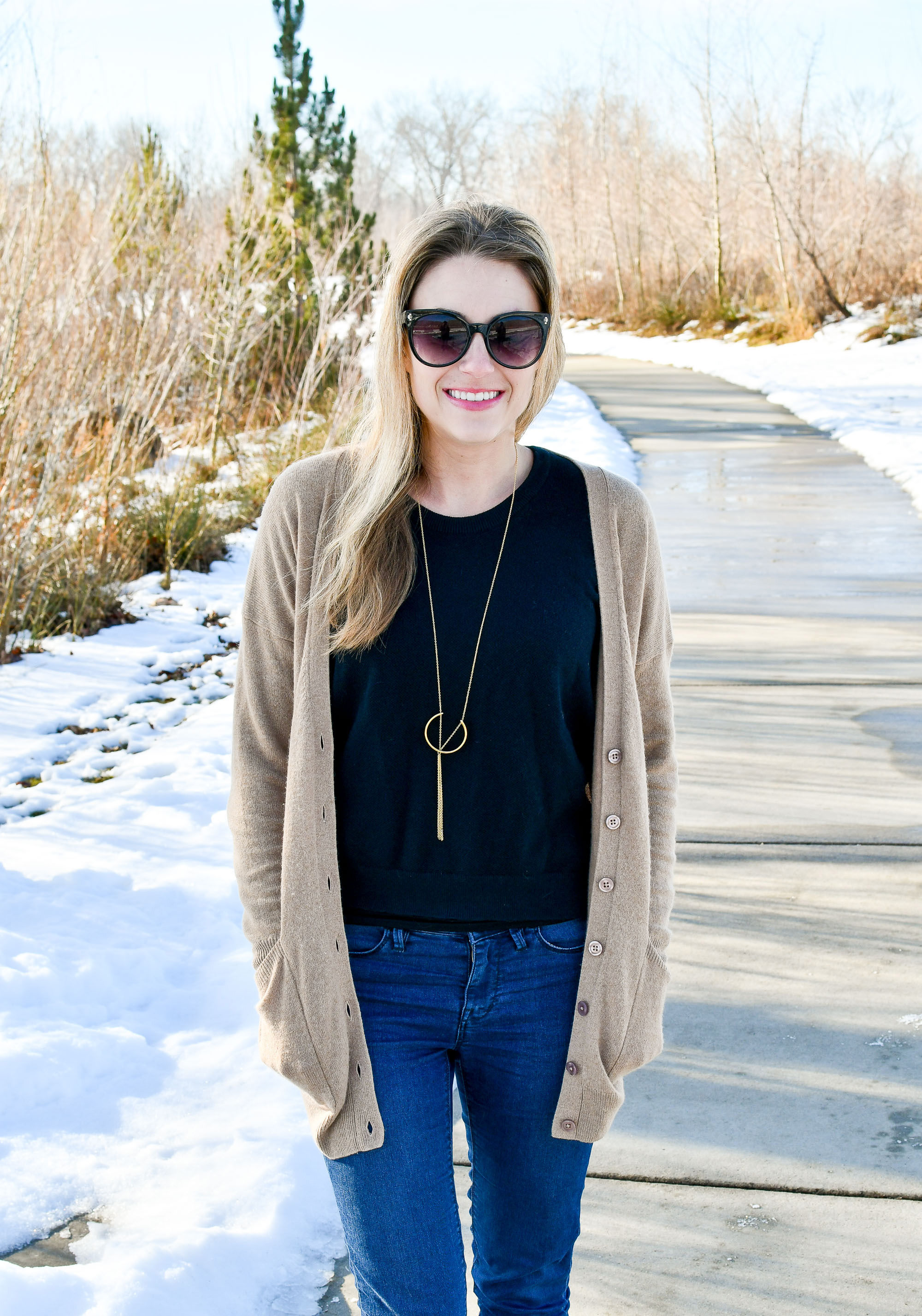 Soko Hewa pendant necklace outfit — Cotton Cashmere Cat Hair