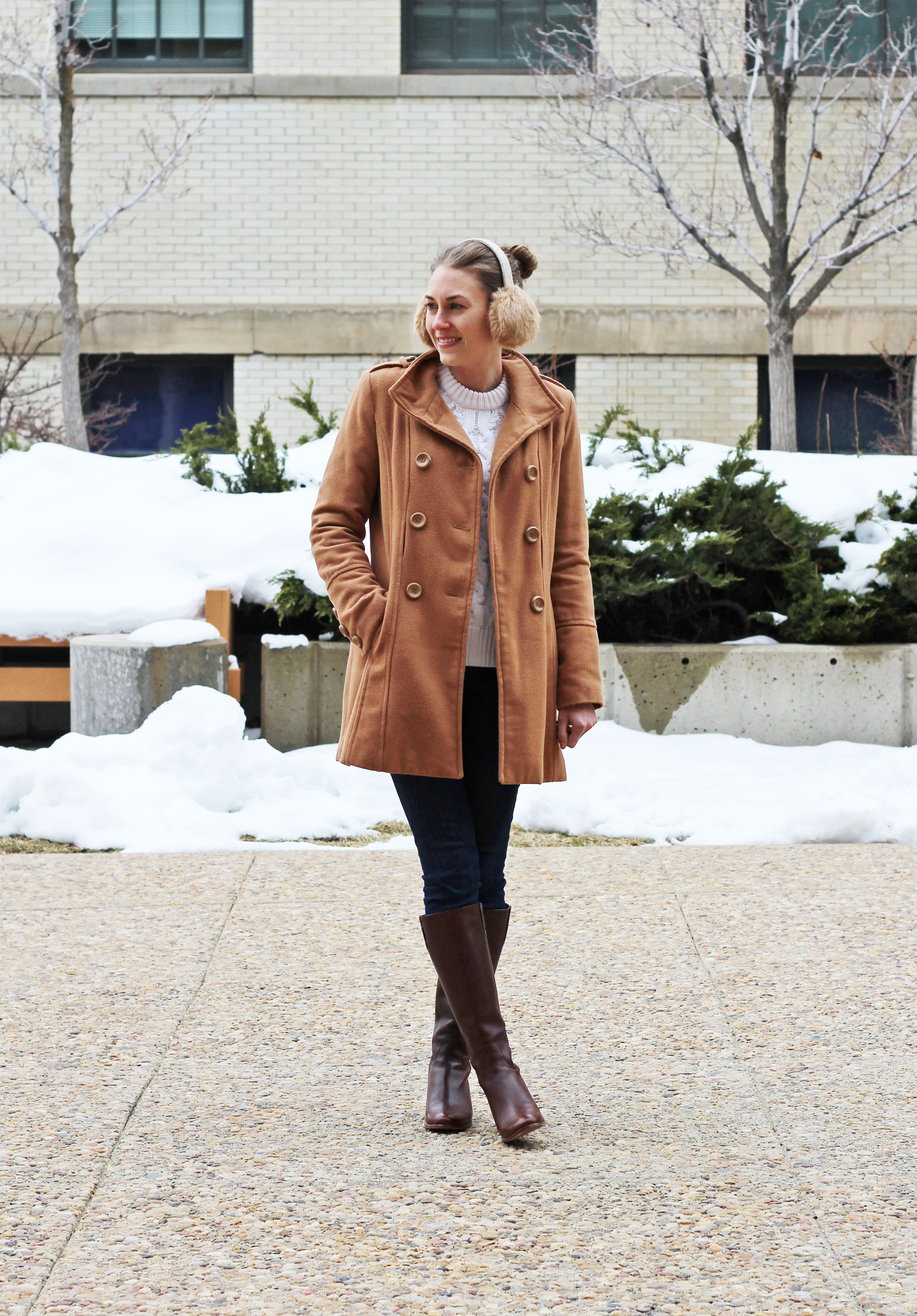 Cole Haan Wesley leather tall boots — Cotton Cashmere Cat Hair
