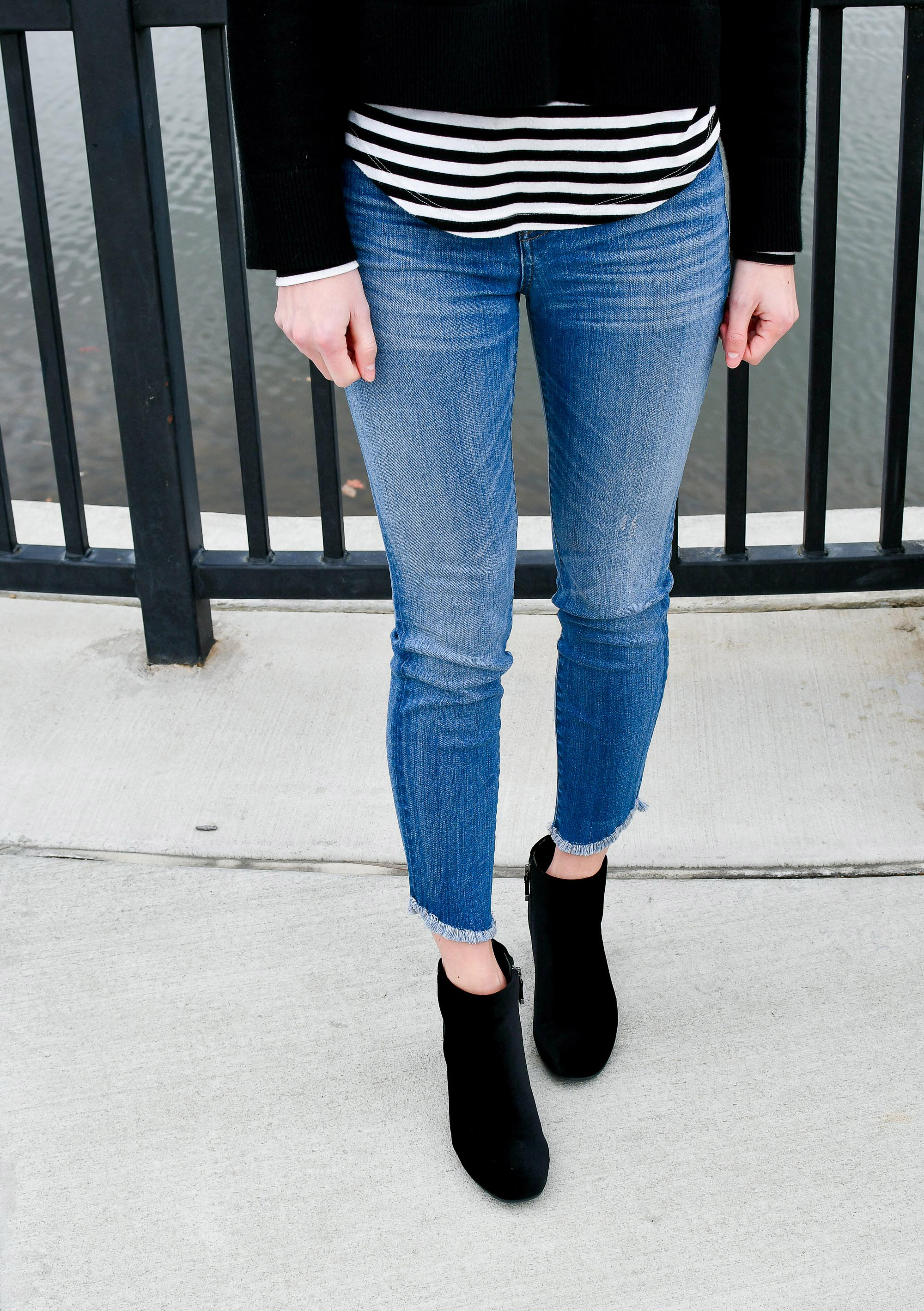 Madewell high-rise skinny jeans with tulip hem — Cotton Cashmere Cat Hair