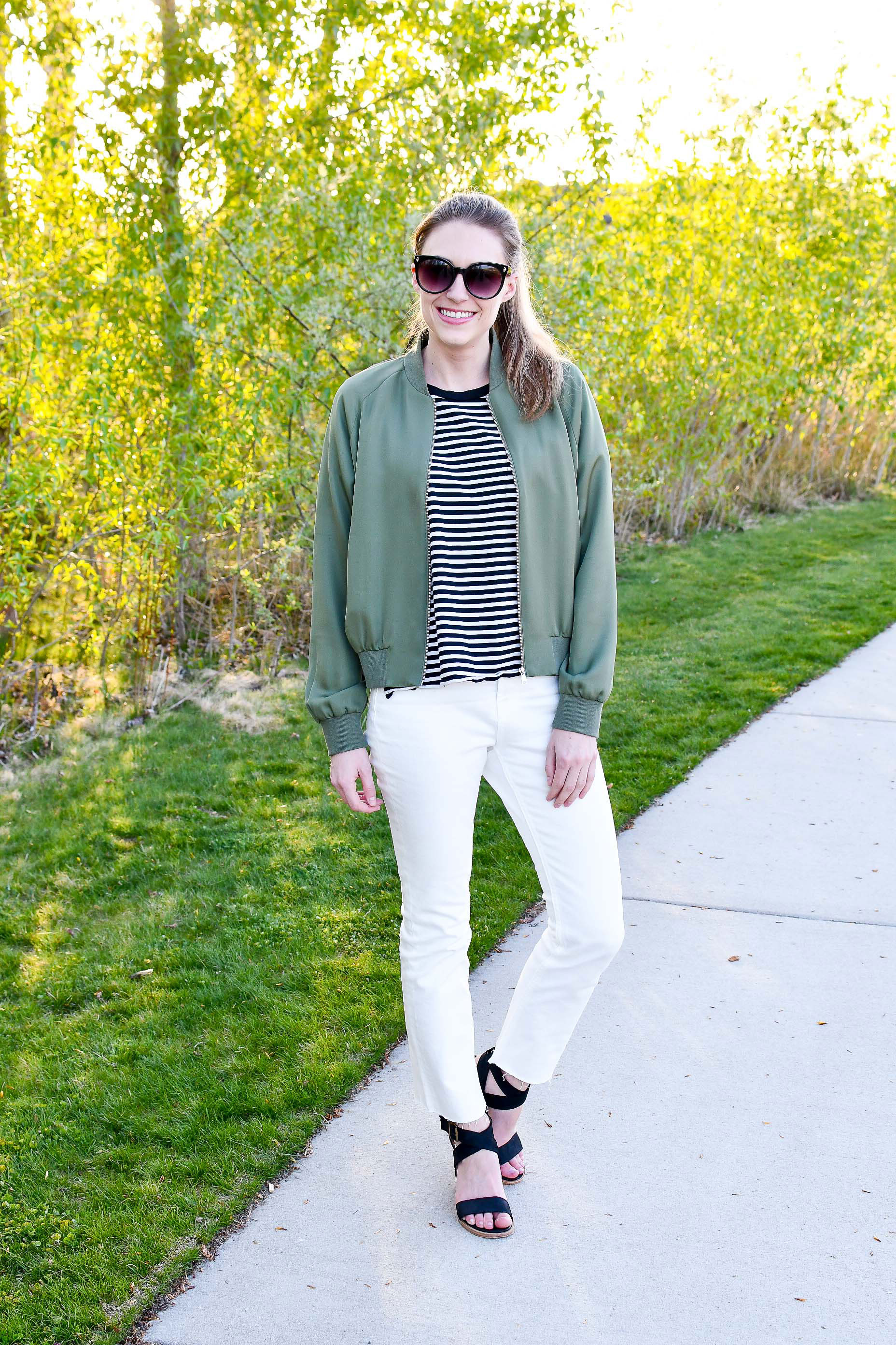 Everlane high rise kick crop jeans in bone — Cotton Cashmere Cat Hair