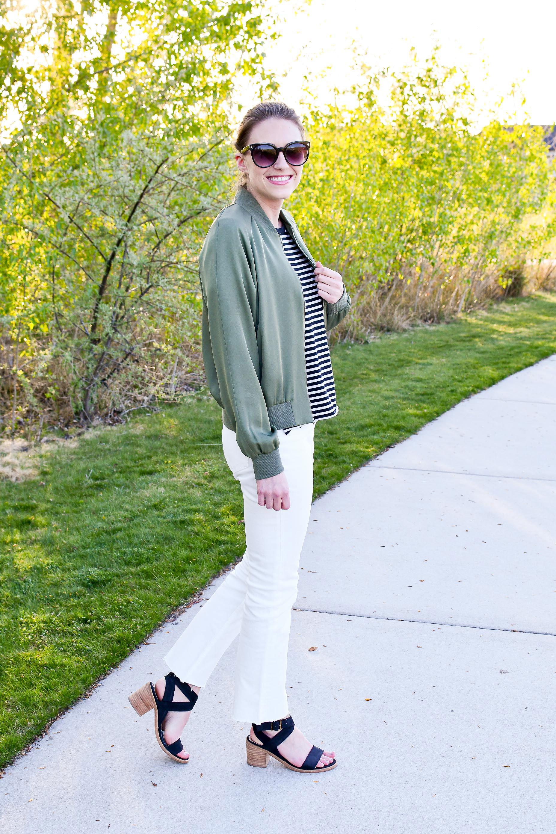 Everlane kick crop jeans with black sandals — Cotton Cashmere Cat Hair