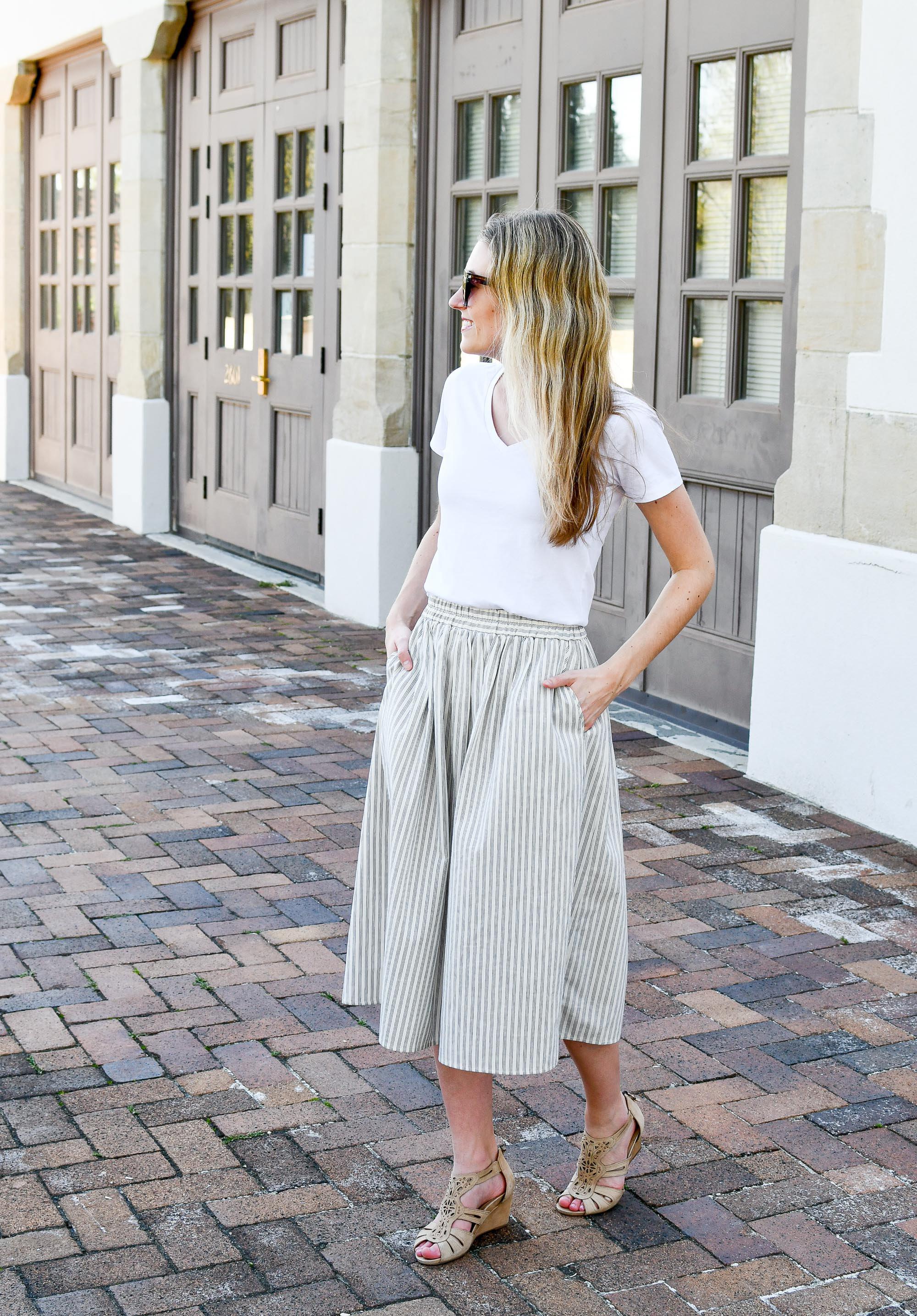 Amour Vert Greta midi skirt outfit — Cotton Cashmere Cat Hair