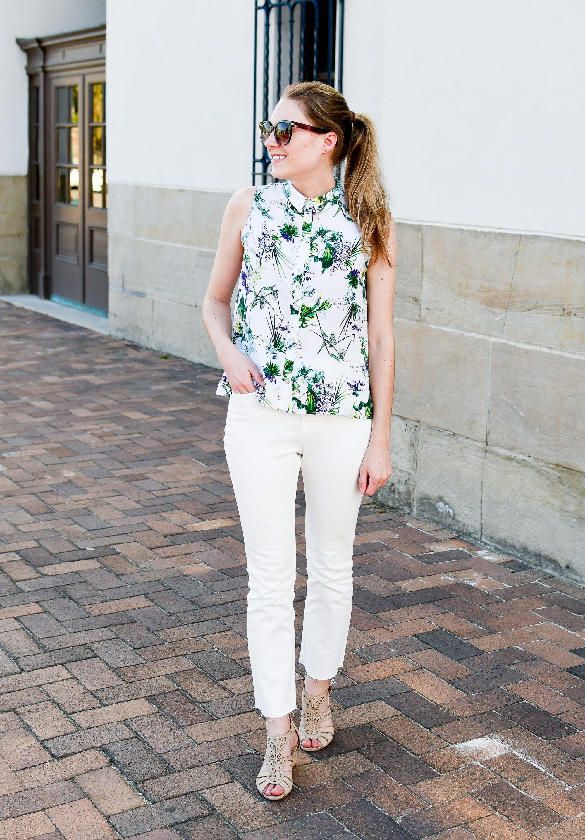 Everlane kick crop jeans in bone — Cotton Cashmere Cat Hair