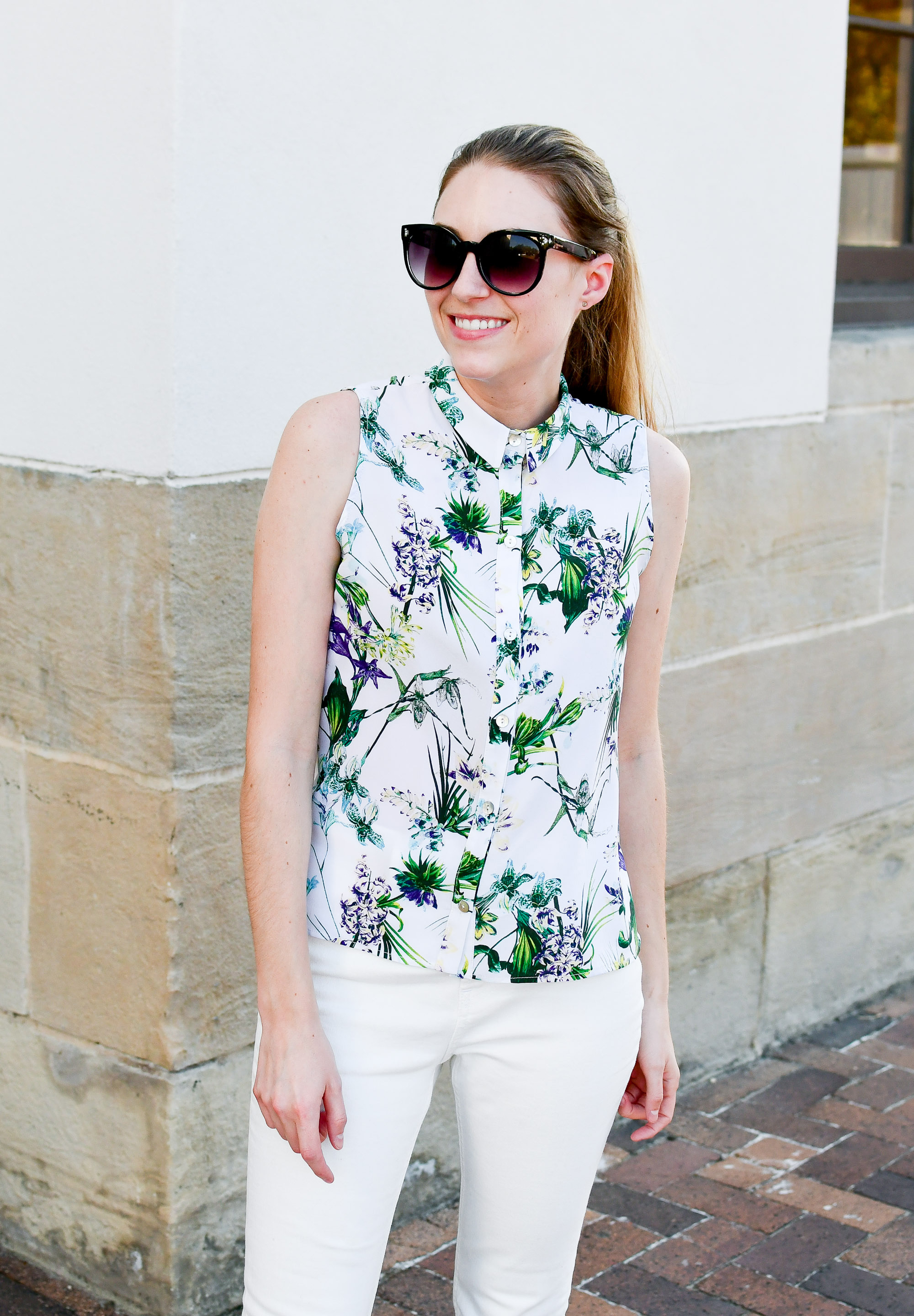 Amour Vert Riley silk shirt in tropical — Cotton Cashmere Cat Hair