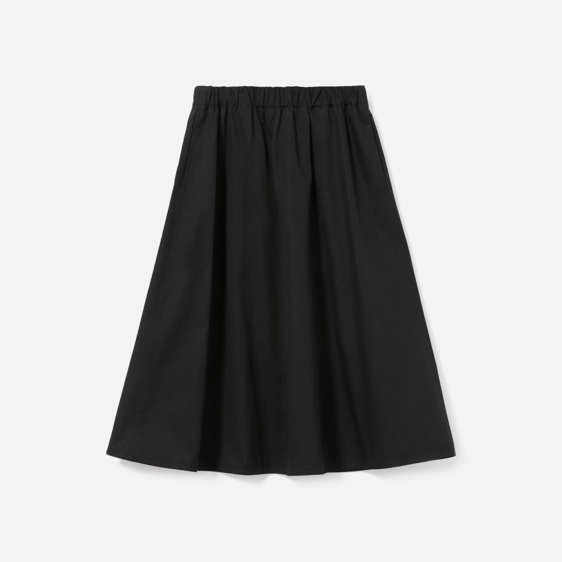 Everlane clean cotton A-line skirt