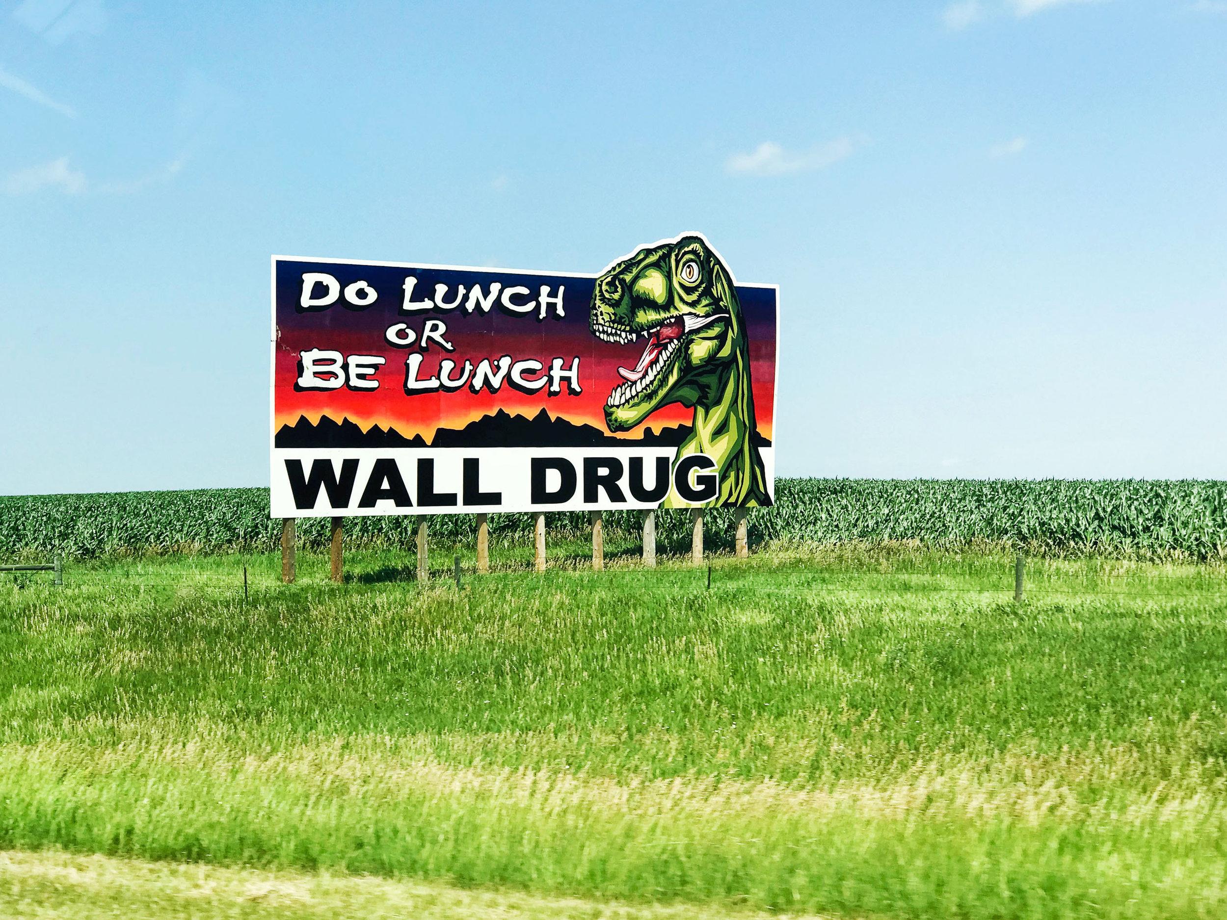 Wall Drug billboard, South Dakota — via Cotton Cashmere Cat Hair