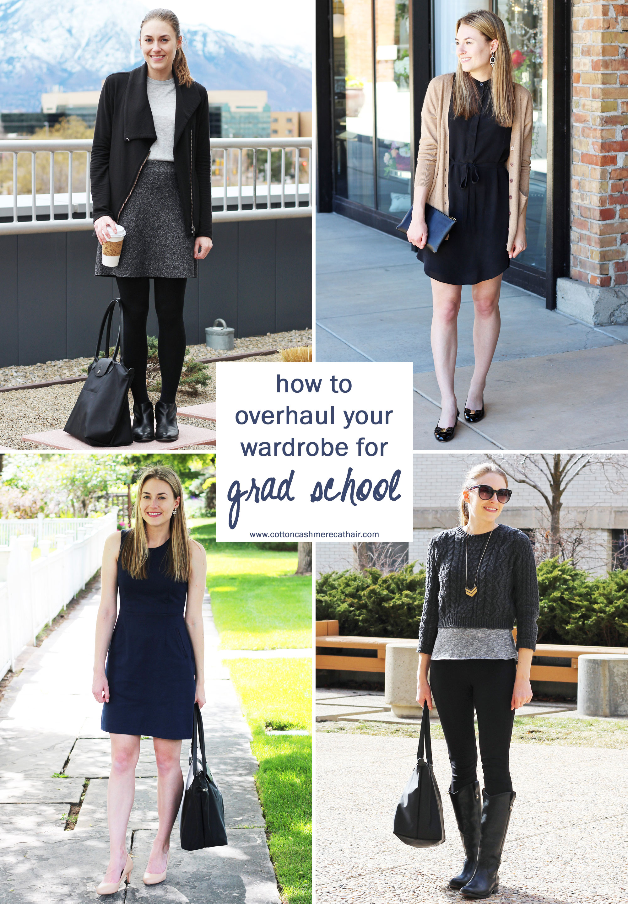 How to overhaul your wardrobe for grad school — Cotton Cashmere Cat Hair
